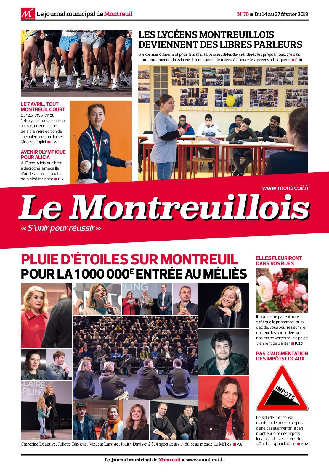 Calaméo Le Montreuillois n°70 Du 14 au 27 février 2019
