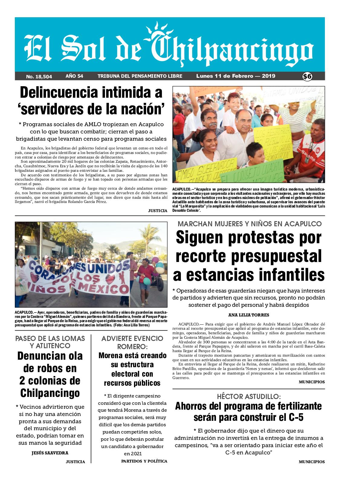 Calaméo - El Sol De Chilpancingo 11 Febrero 2019 2f406102bd89