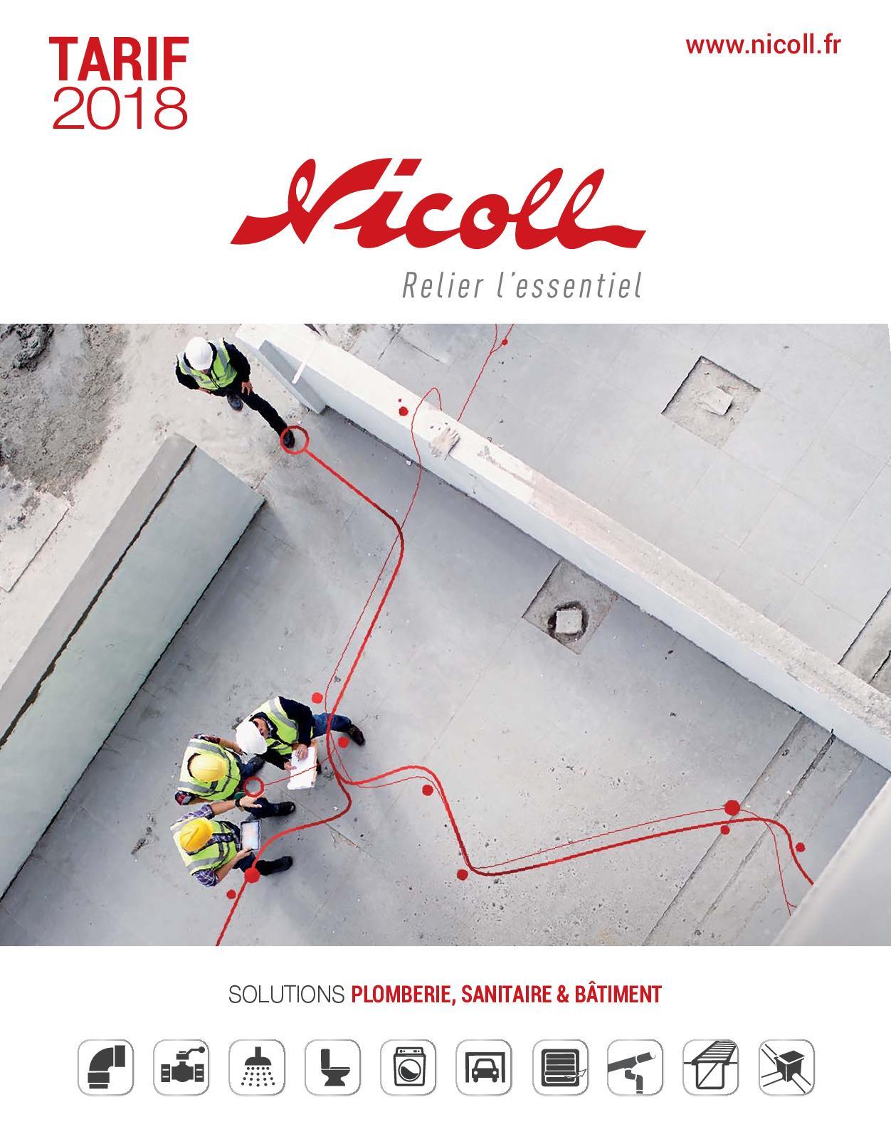 vasque et bidet Vidage lavabo Siphon de parcours blanc PVC-C /à coller entr/ée horizontale /Ø40 Nicoll