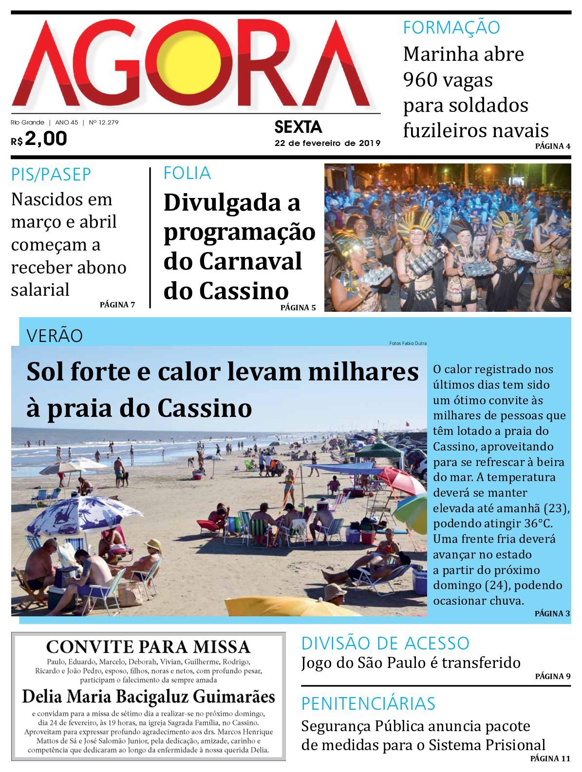 92c3911bbb32 Calaméo - Jornal Agora - Edição 12279 - 22 de Fevereiro de 2019