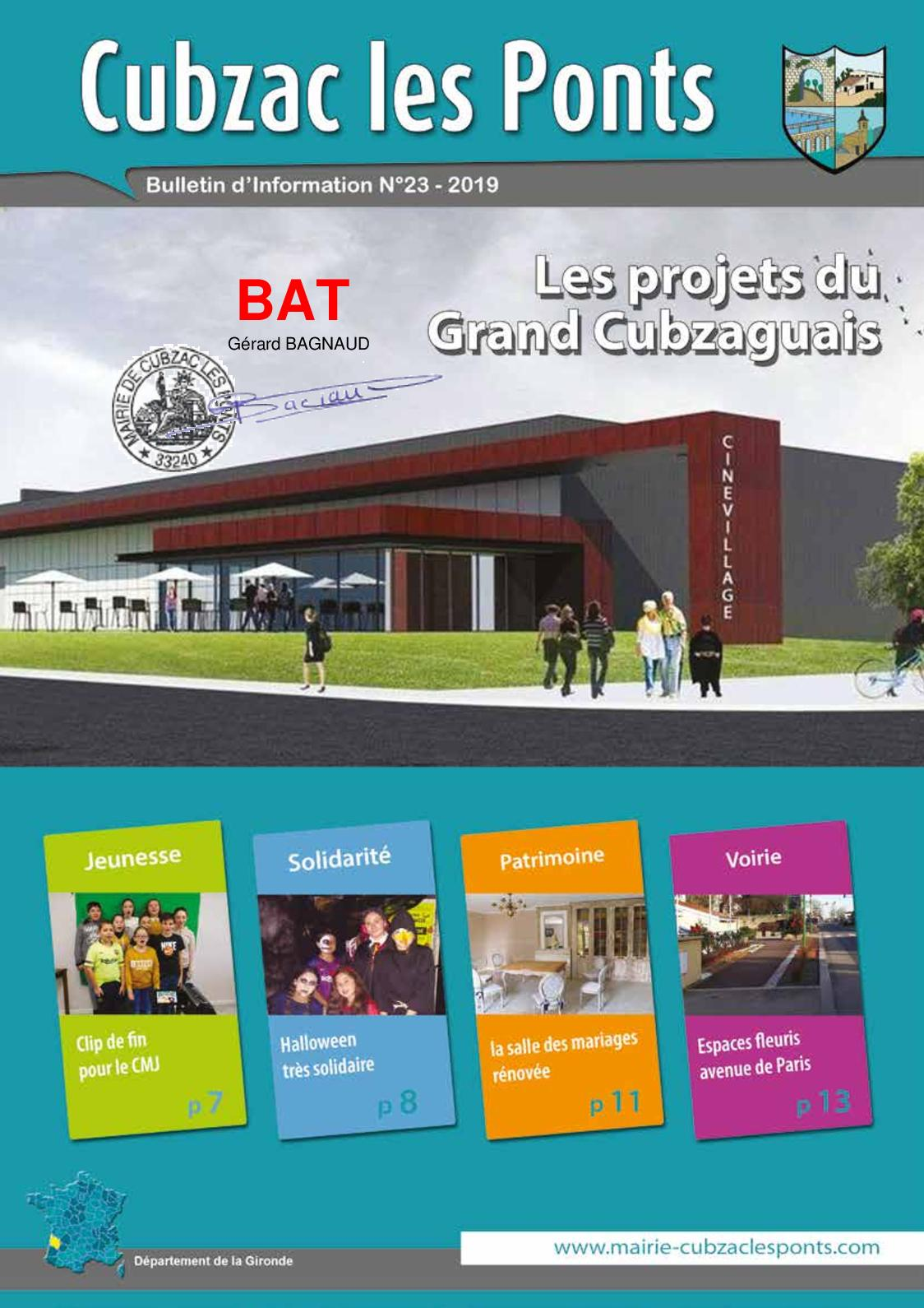 Projet Piscine Saint Andre De Cubzac calaméo - bulletin municipal 2019