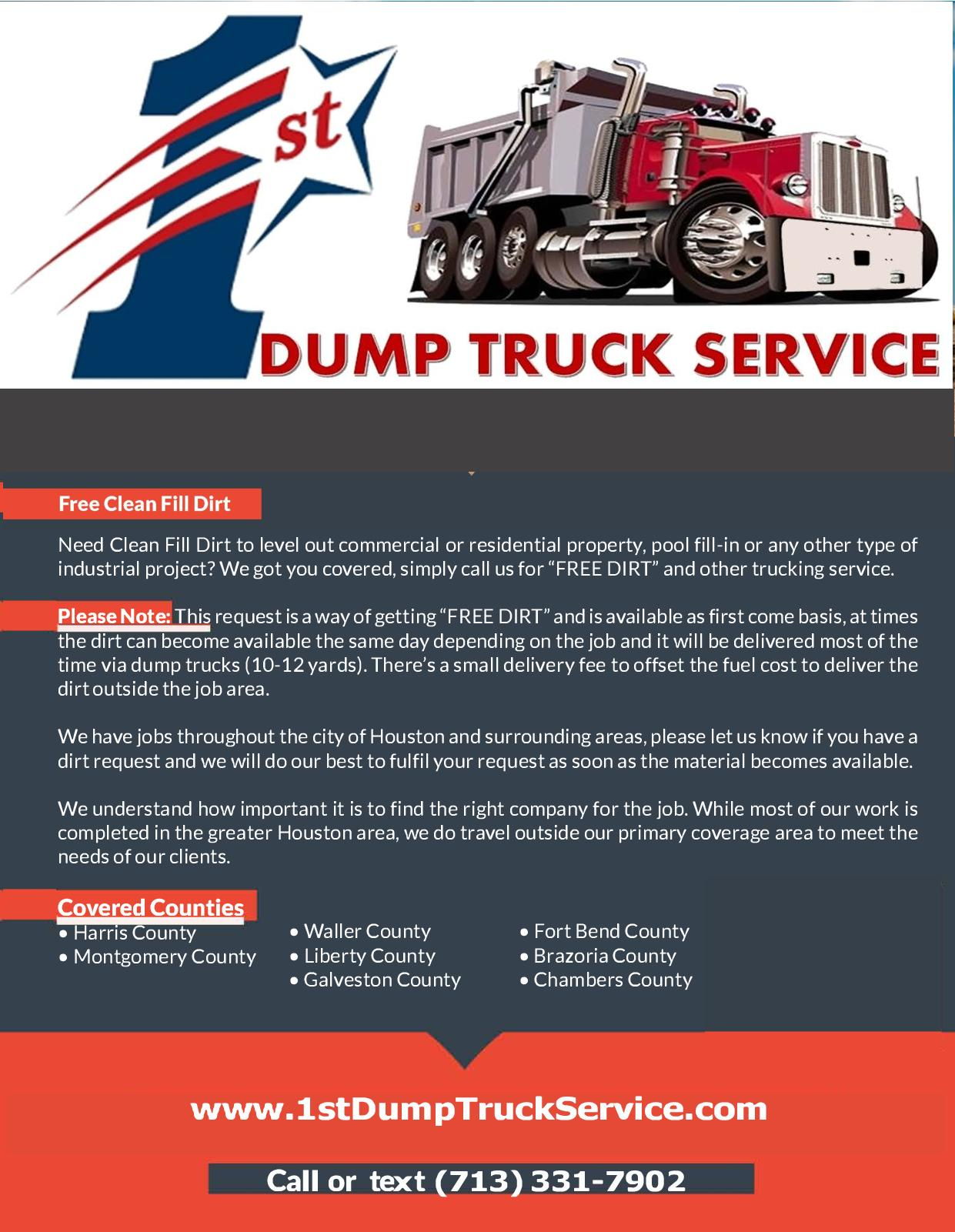 Calaméo - 1st Dump Truck Service Back Fill Dirt Trucking