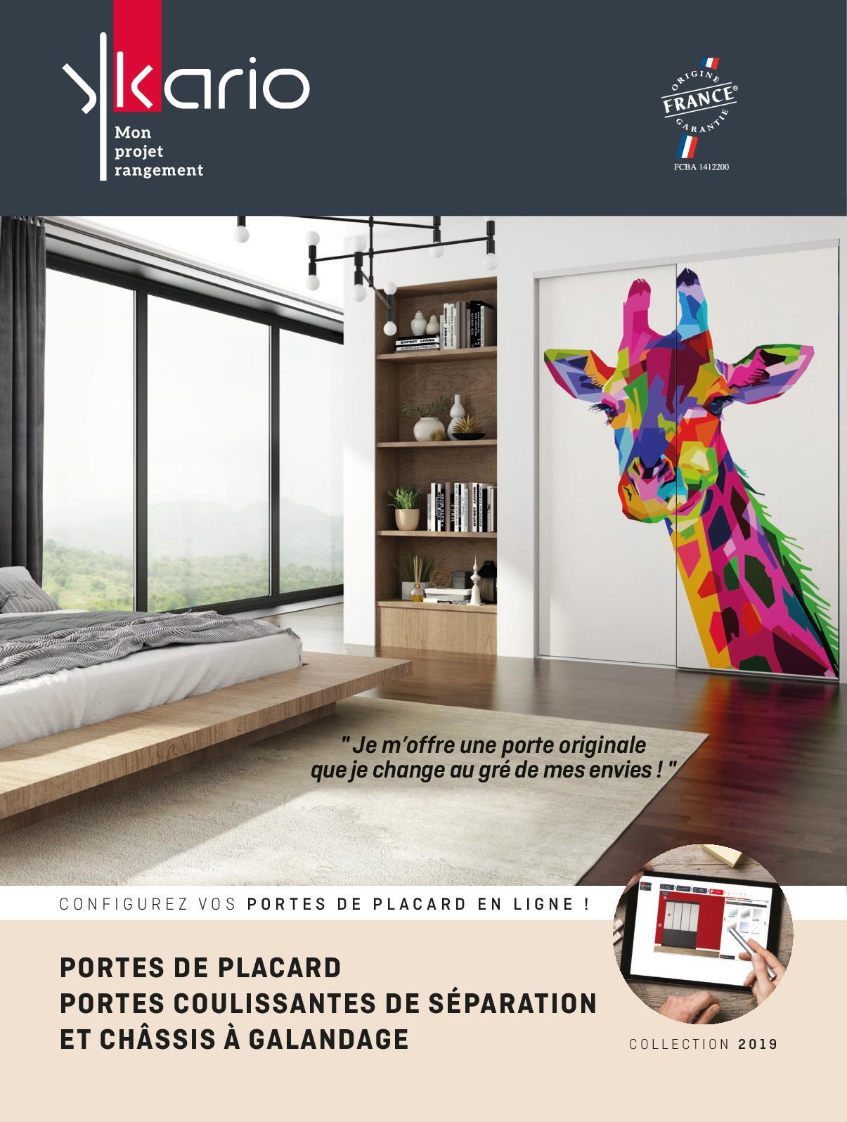 Poser Des Portes Coulissantes Sous Pente calaméo - catalogue ykario portes de placard/portes