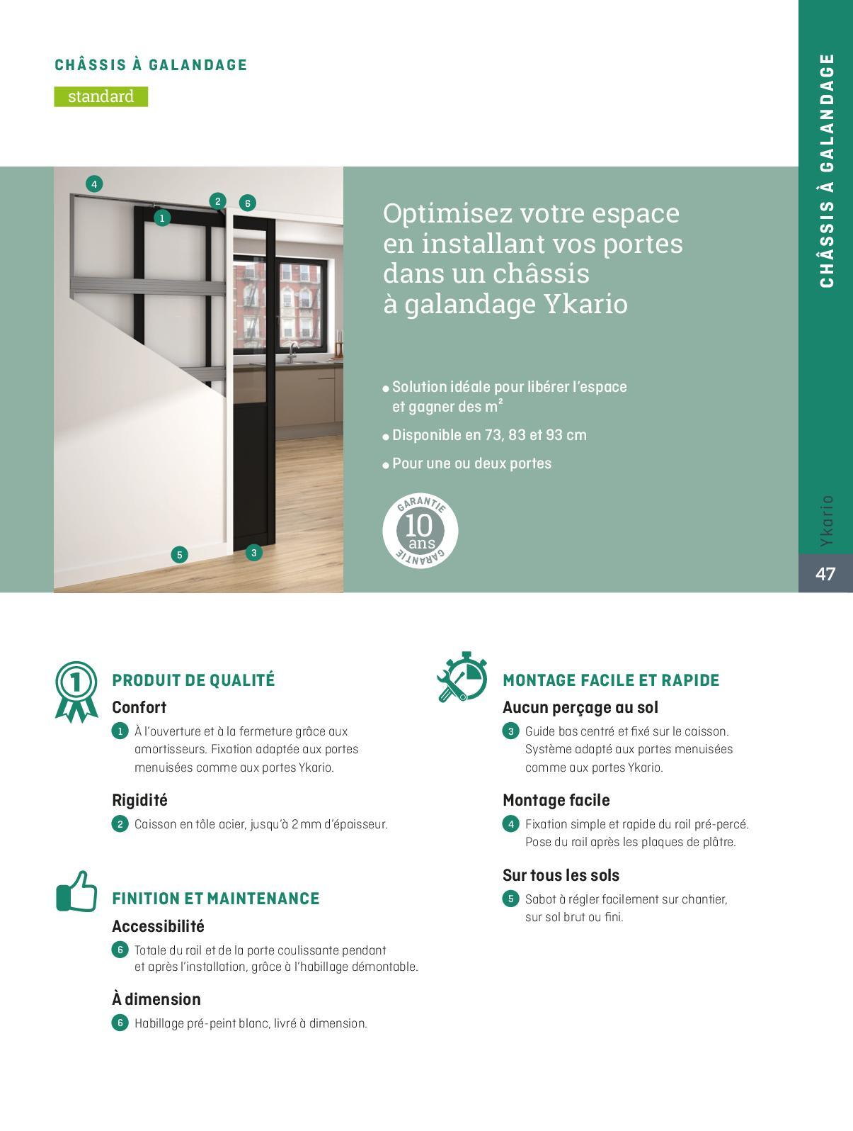 Plan Porte À Galandage catalogue ykario portes de placard/portes coulissantes 2019