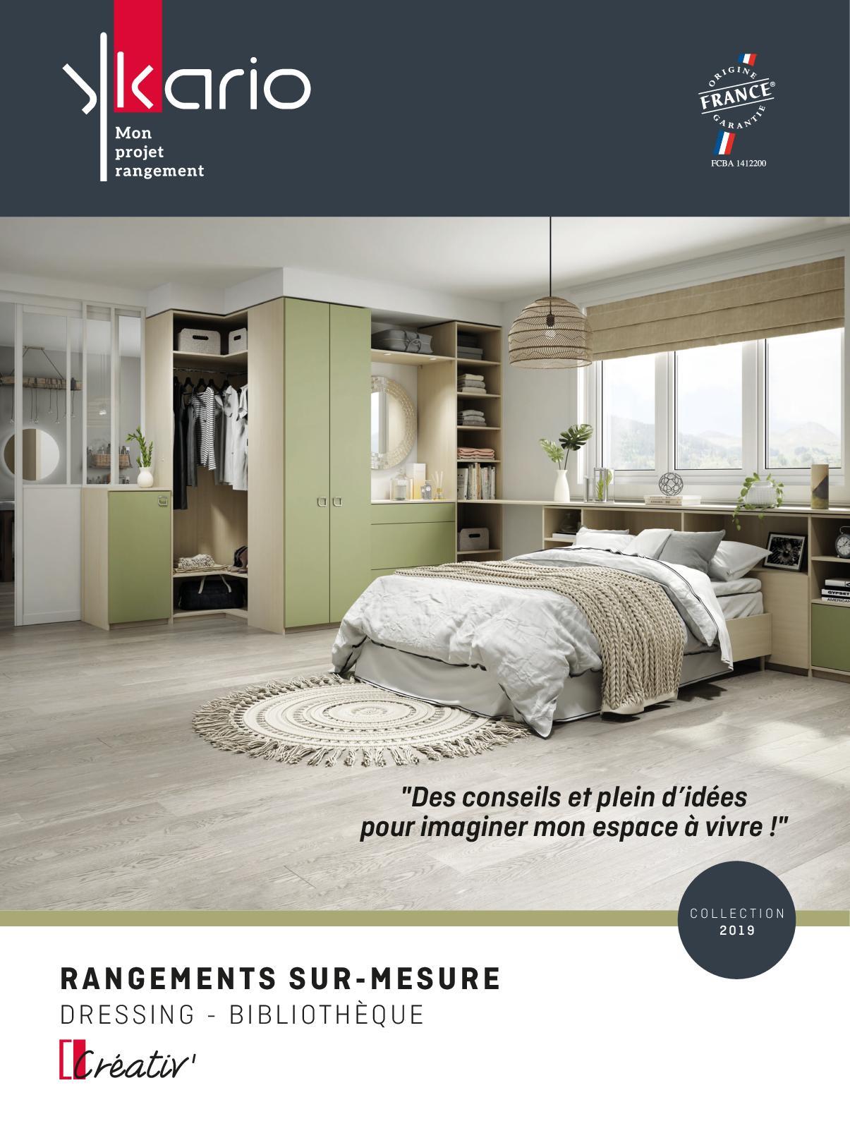 Coût Bibliothèque Sur Mesure calaméo - catalogue ykario dressing 2019