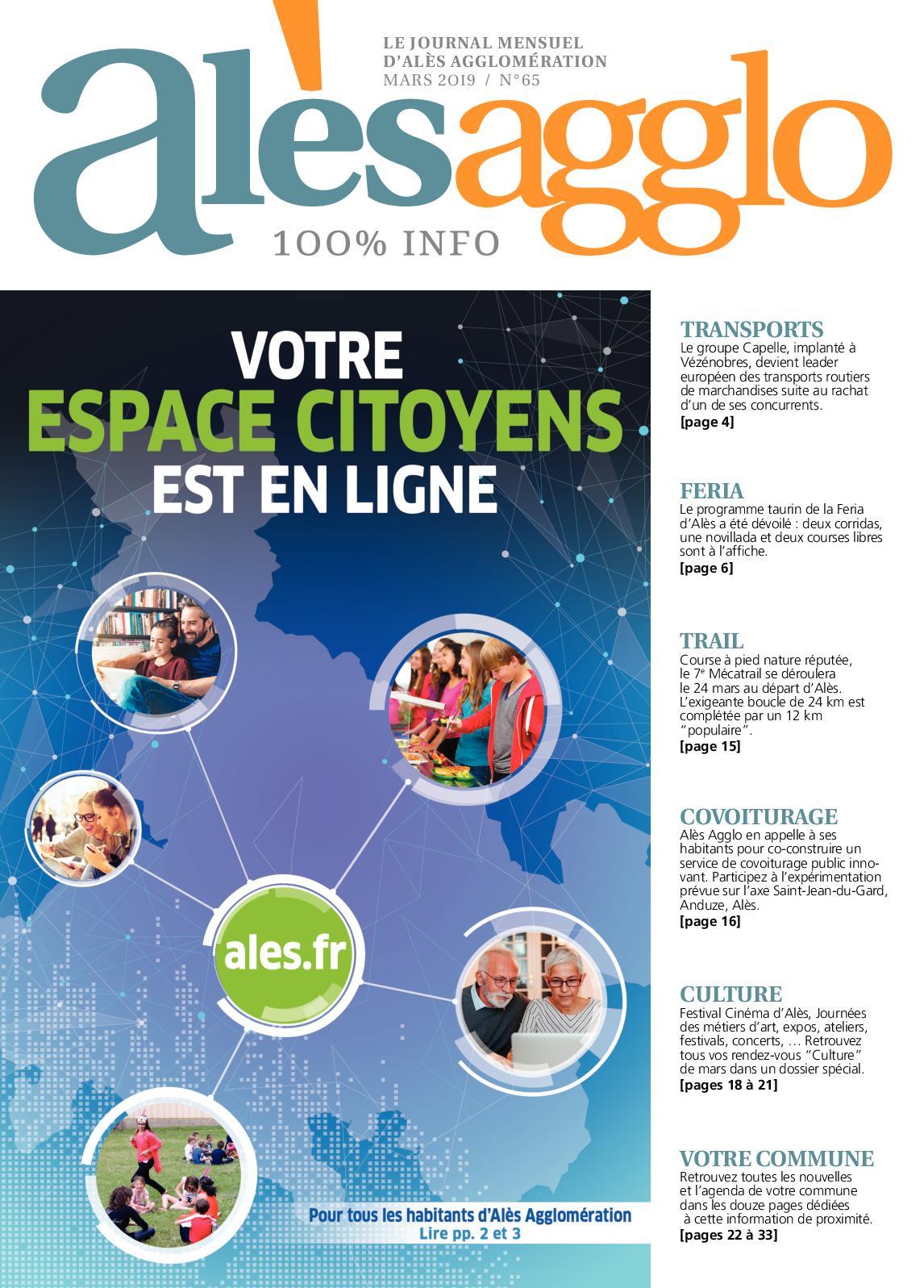 Mars Agglo 2019 Calaméo Alès N°65 Journal qzMpGLSUV