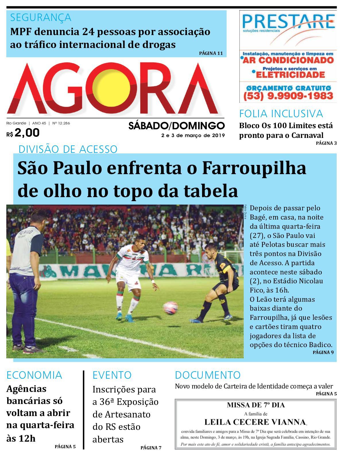05208d5433 Calaméo - Jornal Agora - Edição 12286 - 2 e 3 de Março de 2019