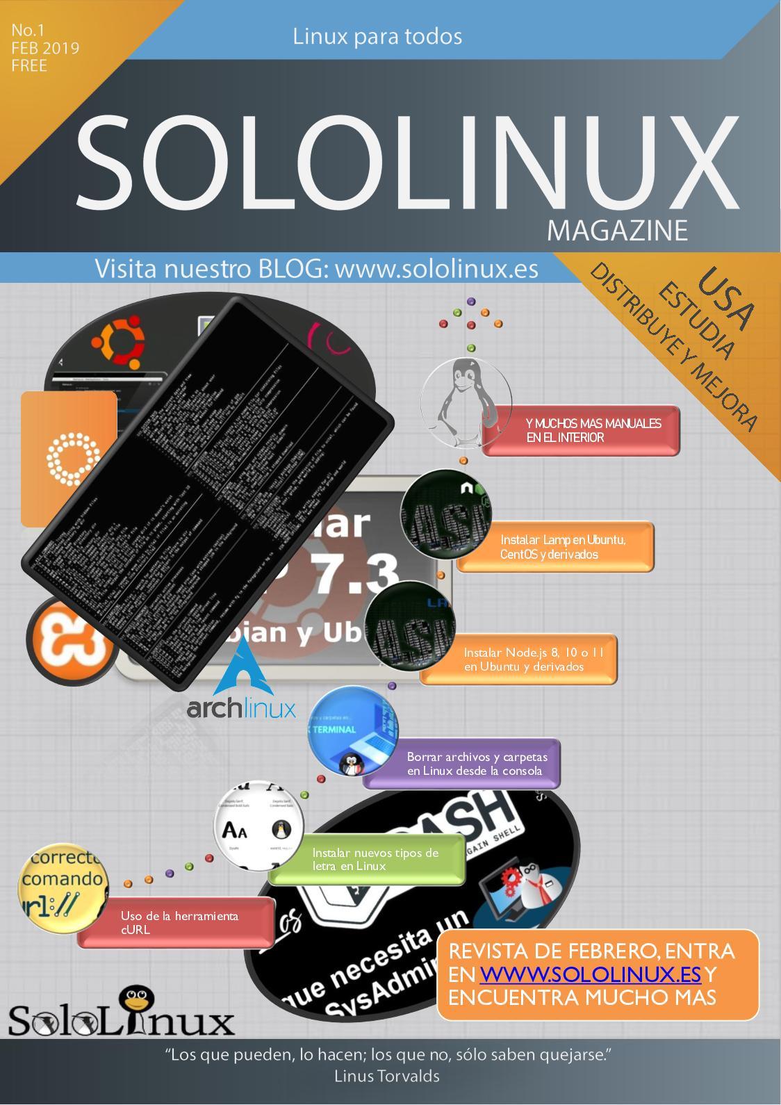 Solo Linux N1 Febrero 2019 - CALAMEO Downloader