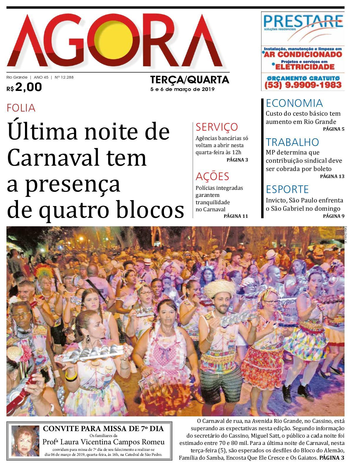 833e13129aaa Calaméo - Jornal Agora - Edição 12288 - 5 e 6 de março de 2019