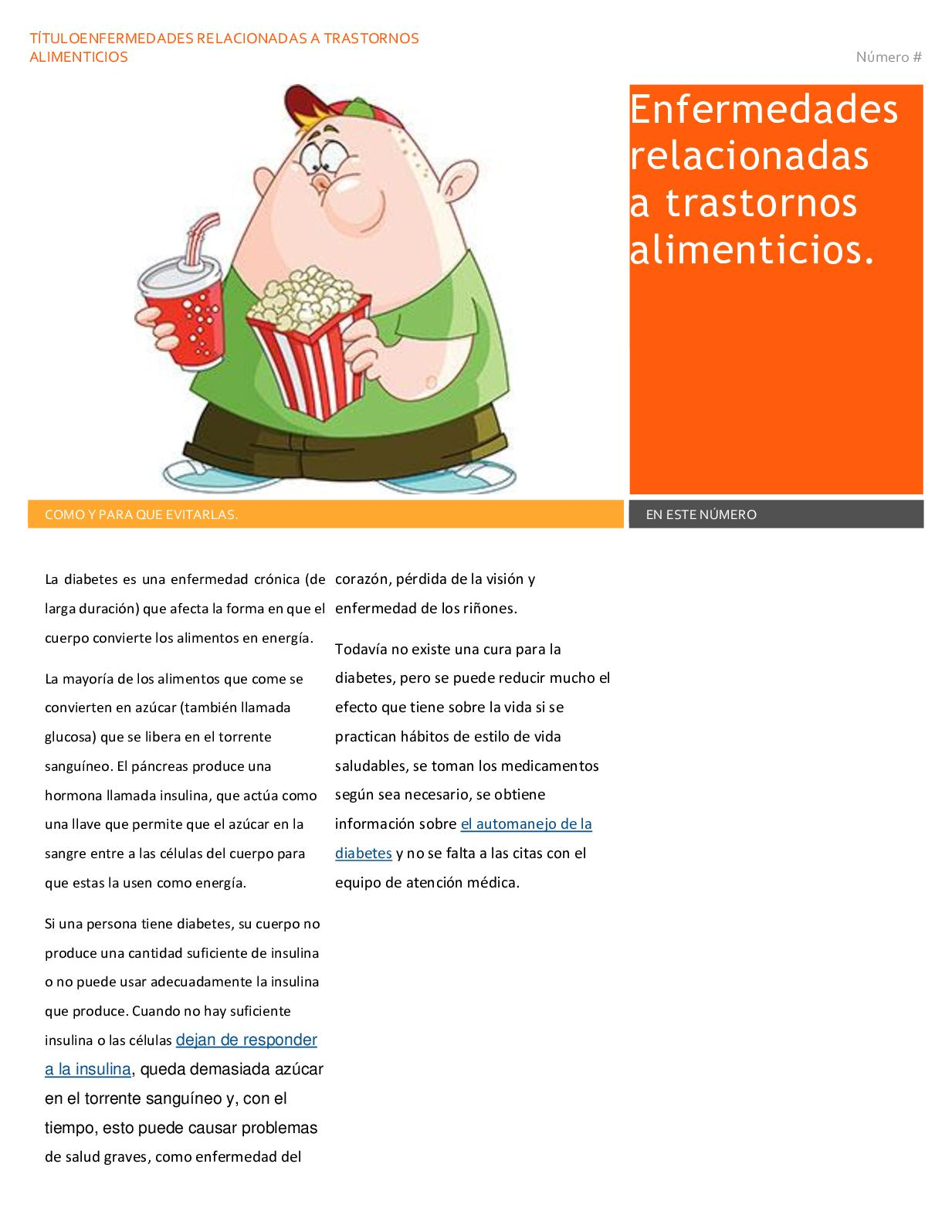 diabetes y enfermedades relacionadas