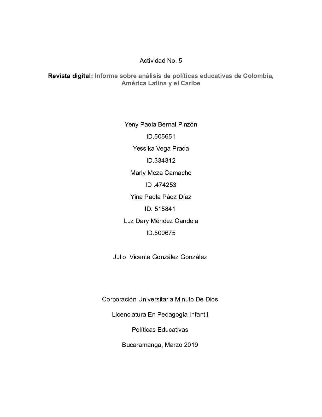 Actividad Comparacion Entre Argentina Y Colombia