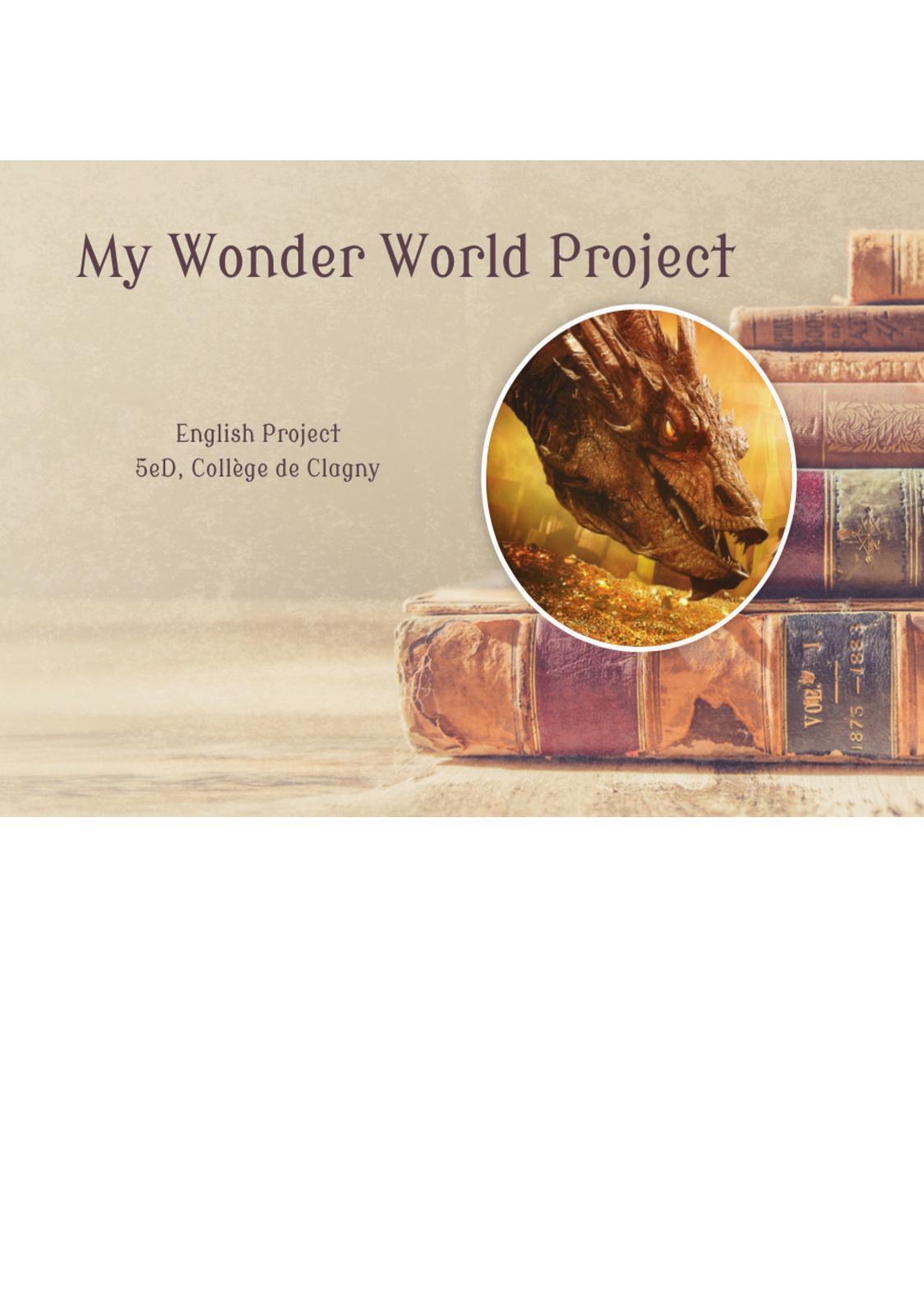 Calaméo - 5eD Wonder World Project