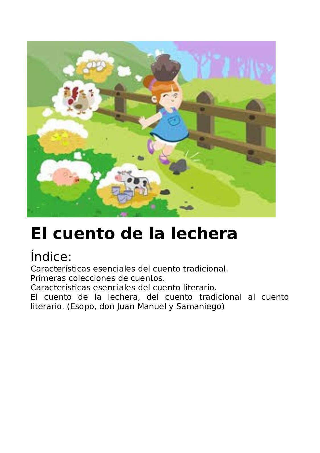 Calaméo El Cuento De La Lechera Paco Ortuño Y Yeray López