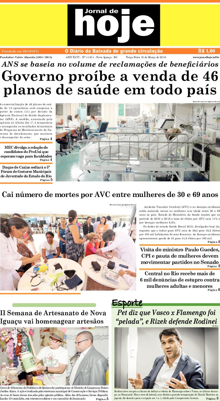 Andressa Ribeiro Pelada calaméo - jornal de hoje 120319