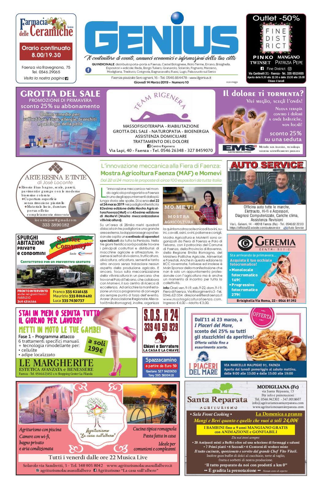 Lettino Massaggio Portatile San Marco.Calameo Num 10 Del 14 Marzo 2019