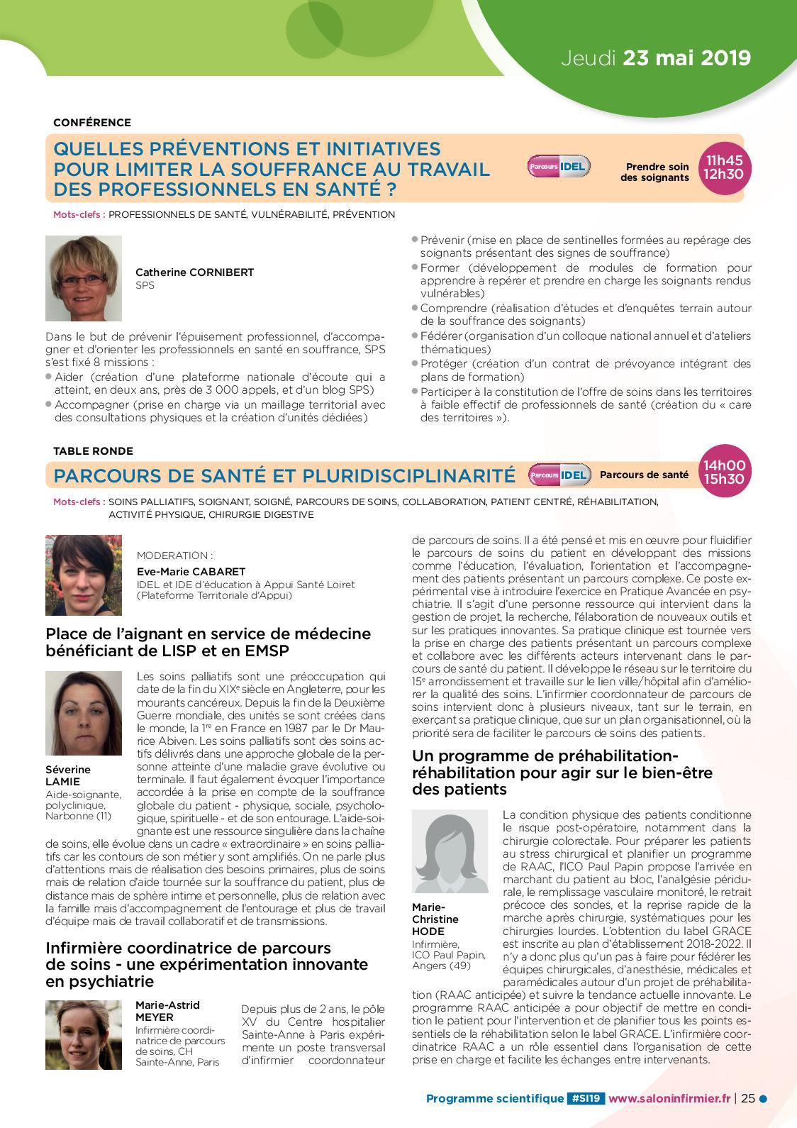 Programme scientifique du Salon Infirmier 20 - CALAMEO Downloader