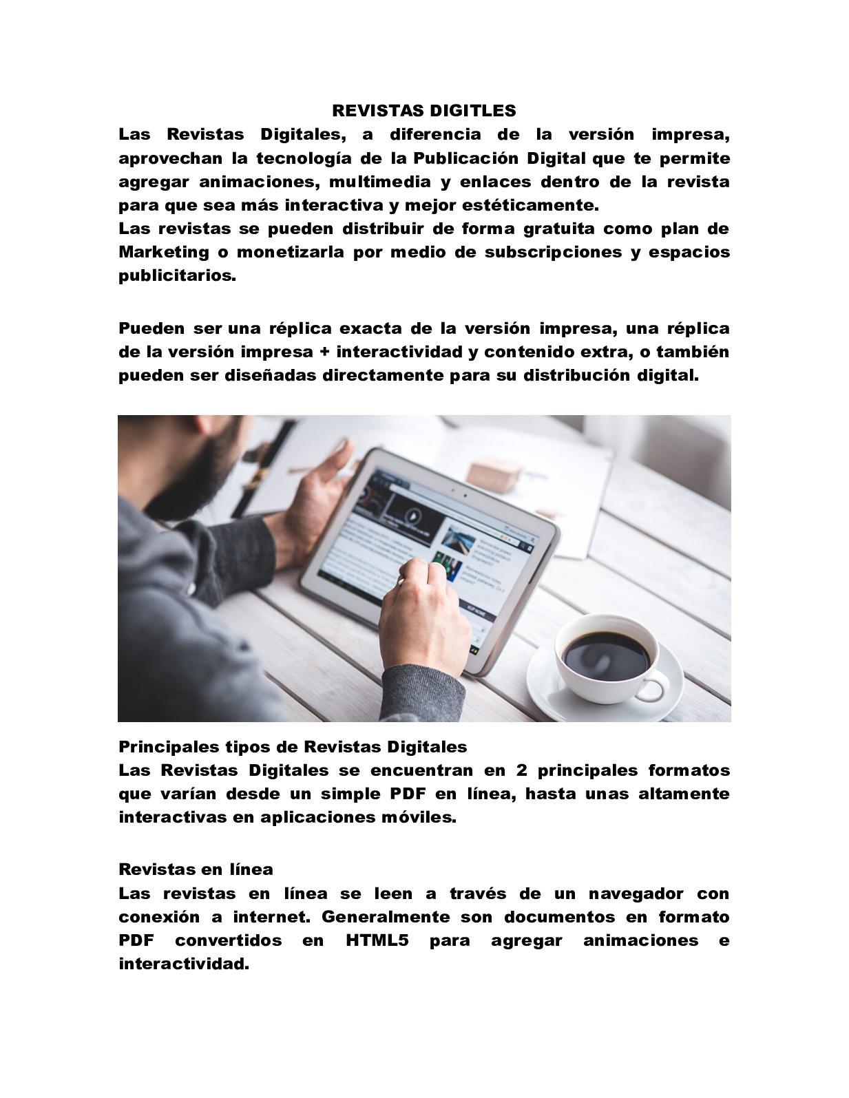 Revistas en línea