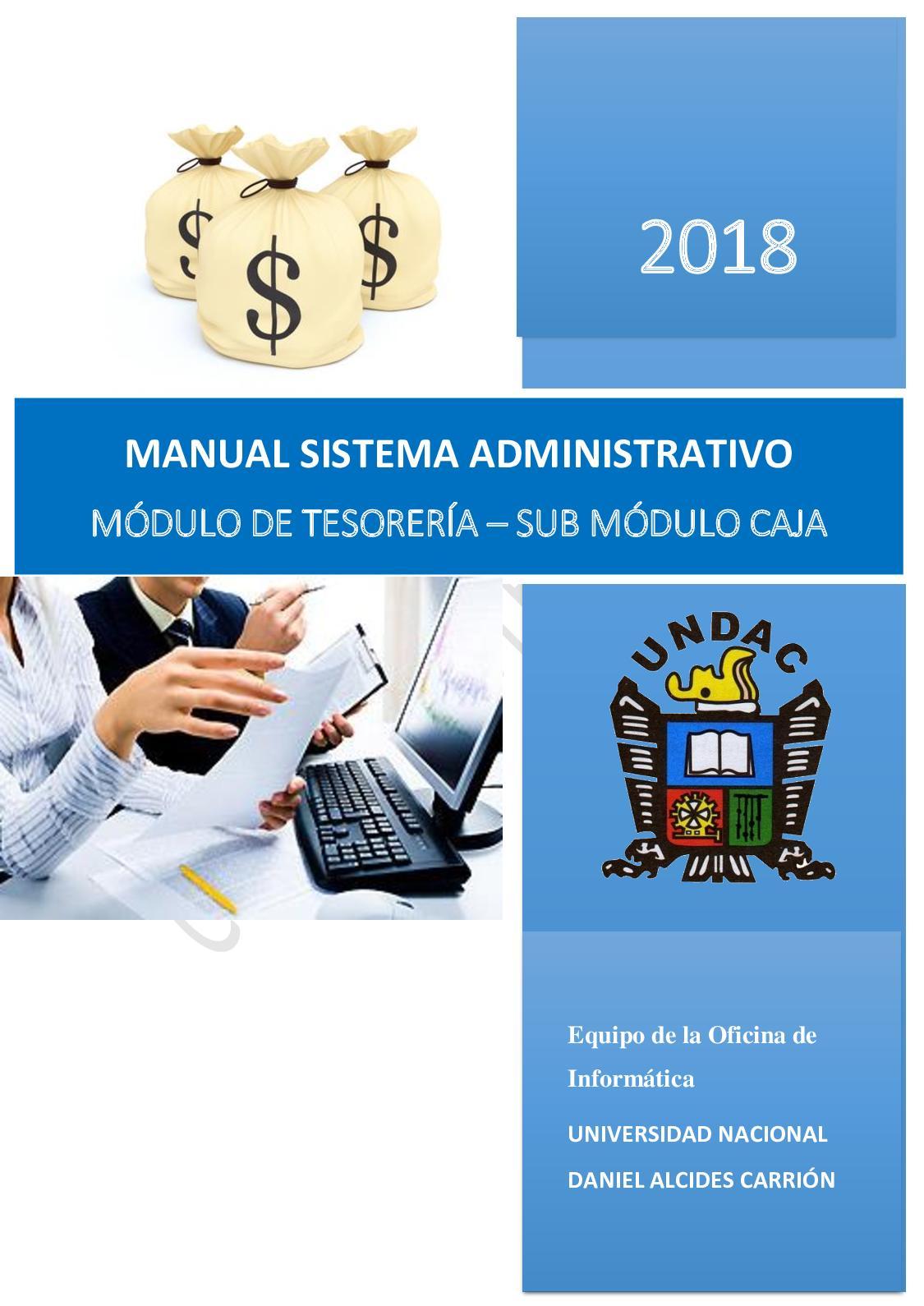 Calaméo 5 Manual Sistema Administrativo Tesoreria Sub