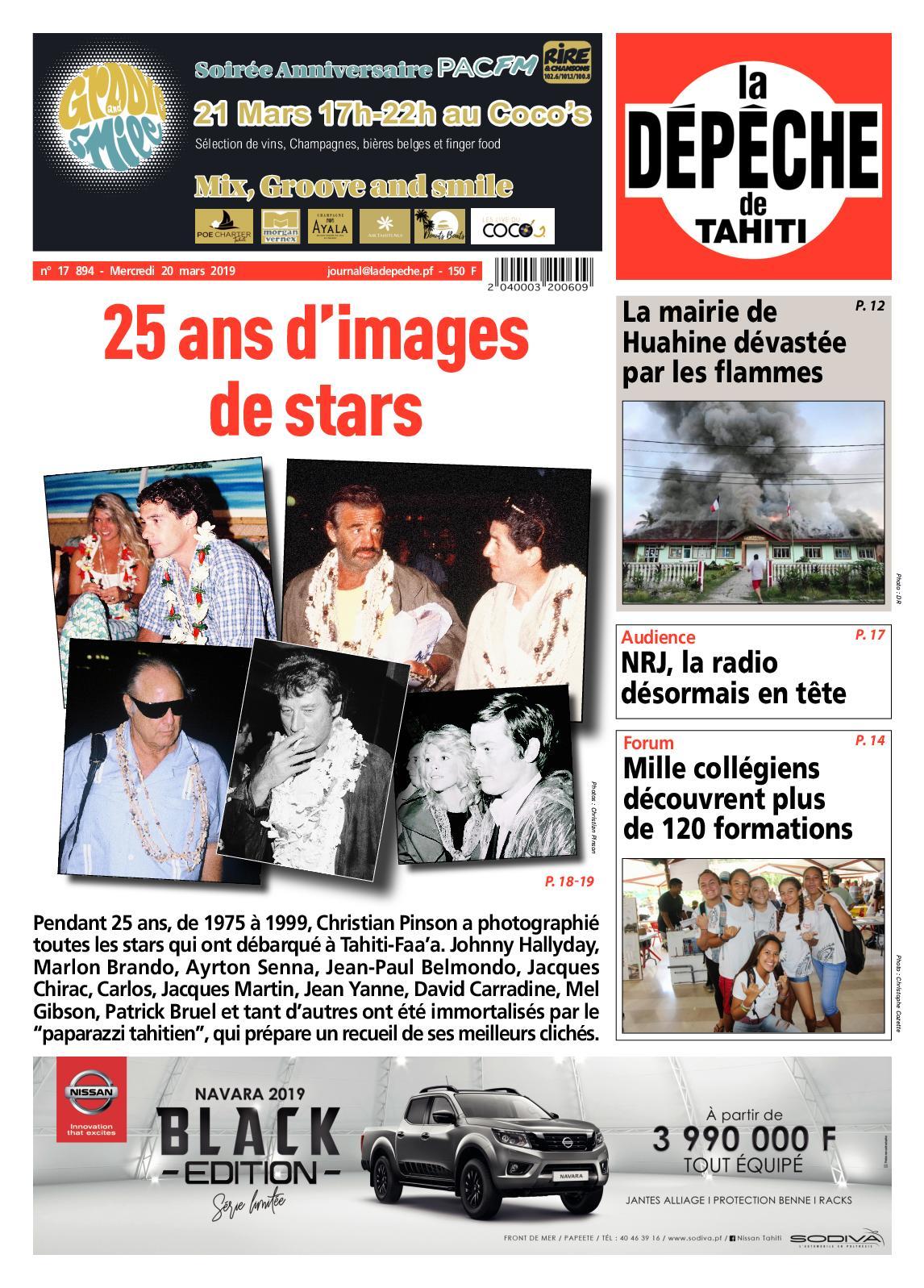 La Dépêche de Tahiti N° 17894 du 20 mars 2019