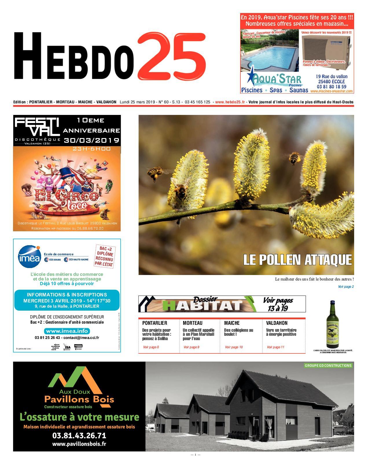 Calaméo - Hebdo Pontarlier 2019 Semaine 13