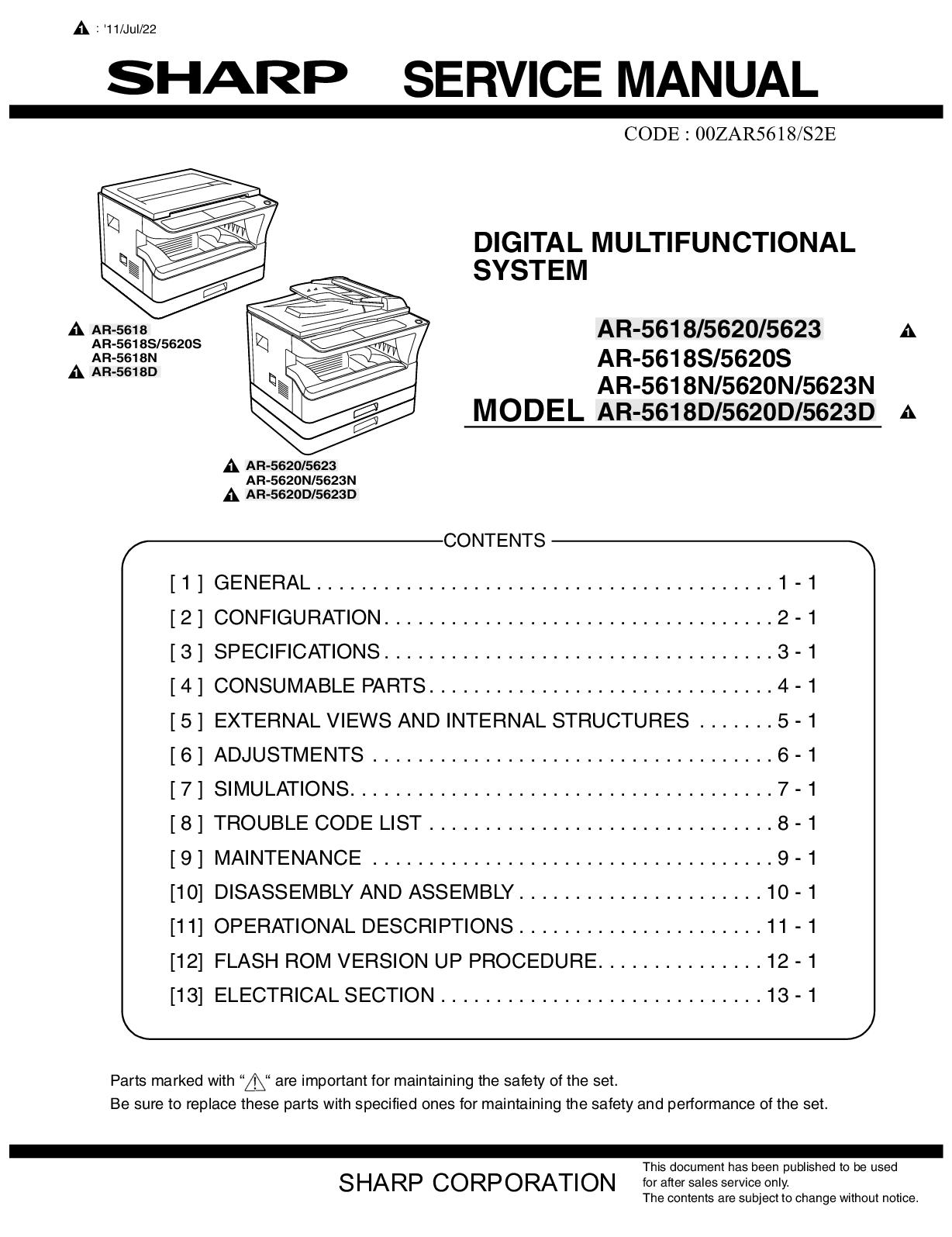 Calaméo - Service Manual Sharp AR-5618/5620/5623