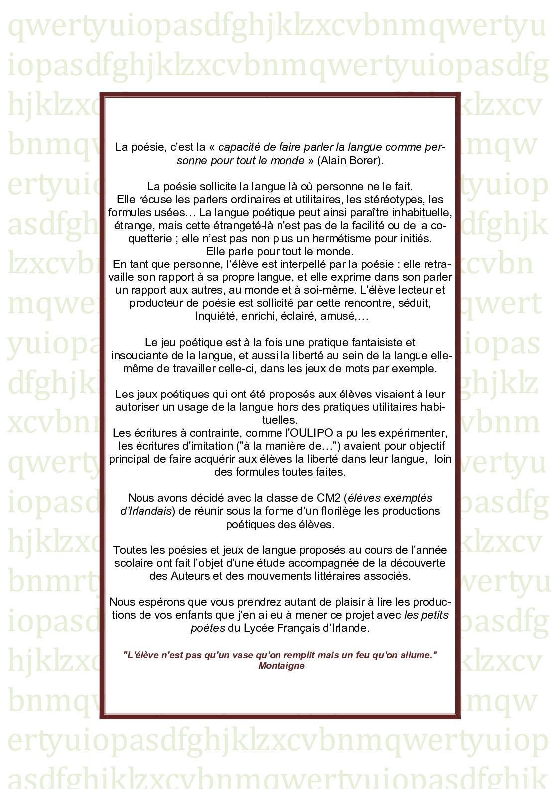 Calaméo Latelier De Poésie Des Cm2