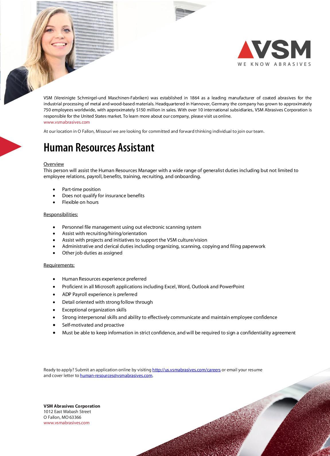 Calaméo - Human Resources Assistant