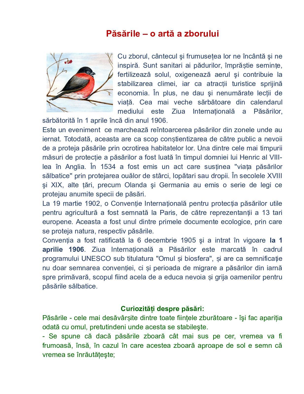 Calaméo Păsările O Artă A Zborului