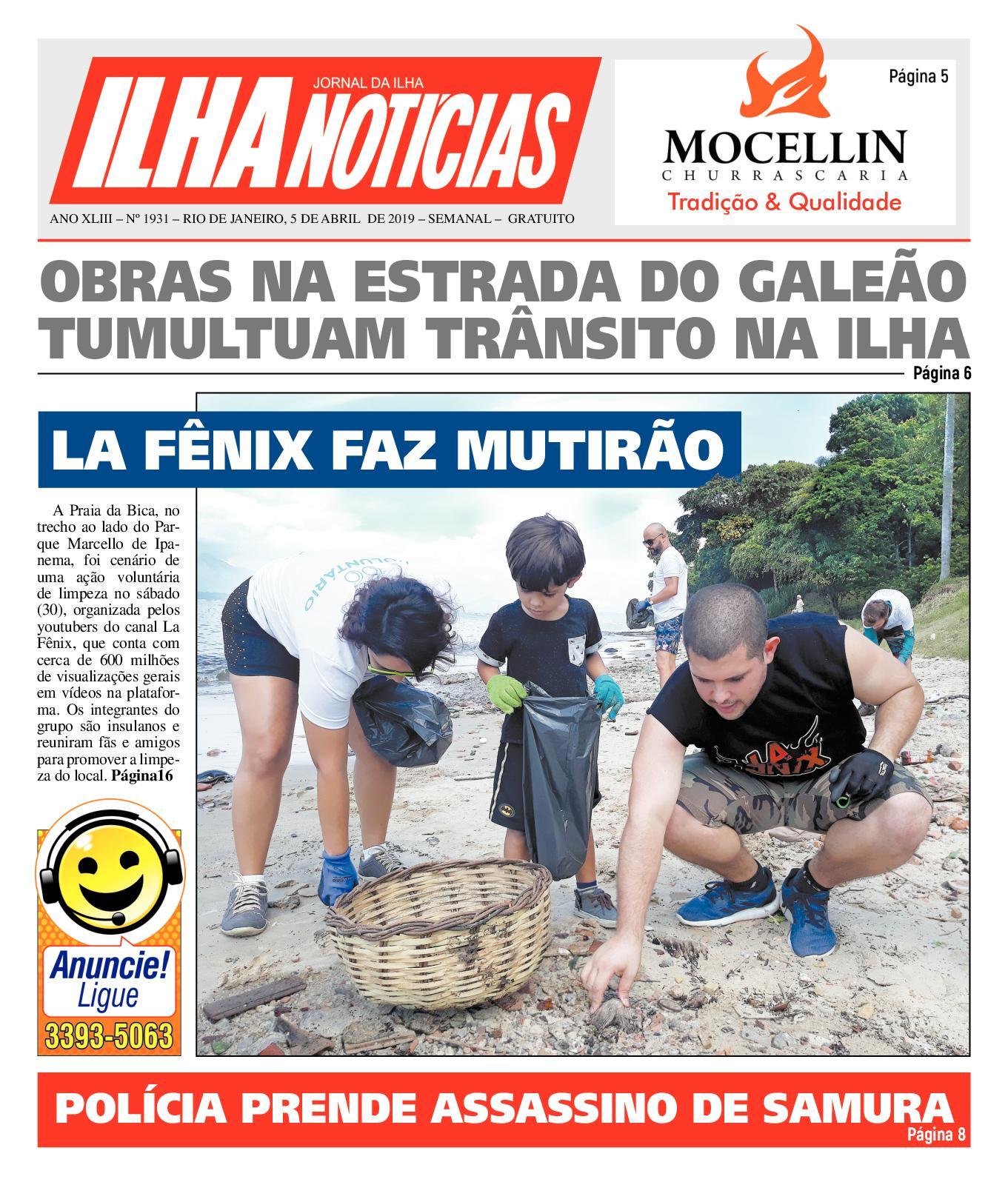 Ilha Noticias - Edição 1931 - 5/4/19