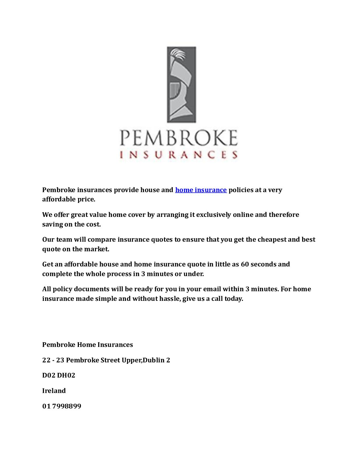 Calameo Pembroke Home Insurances