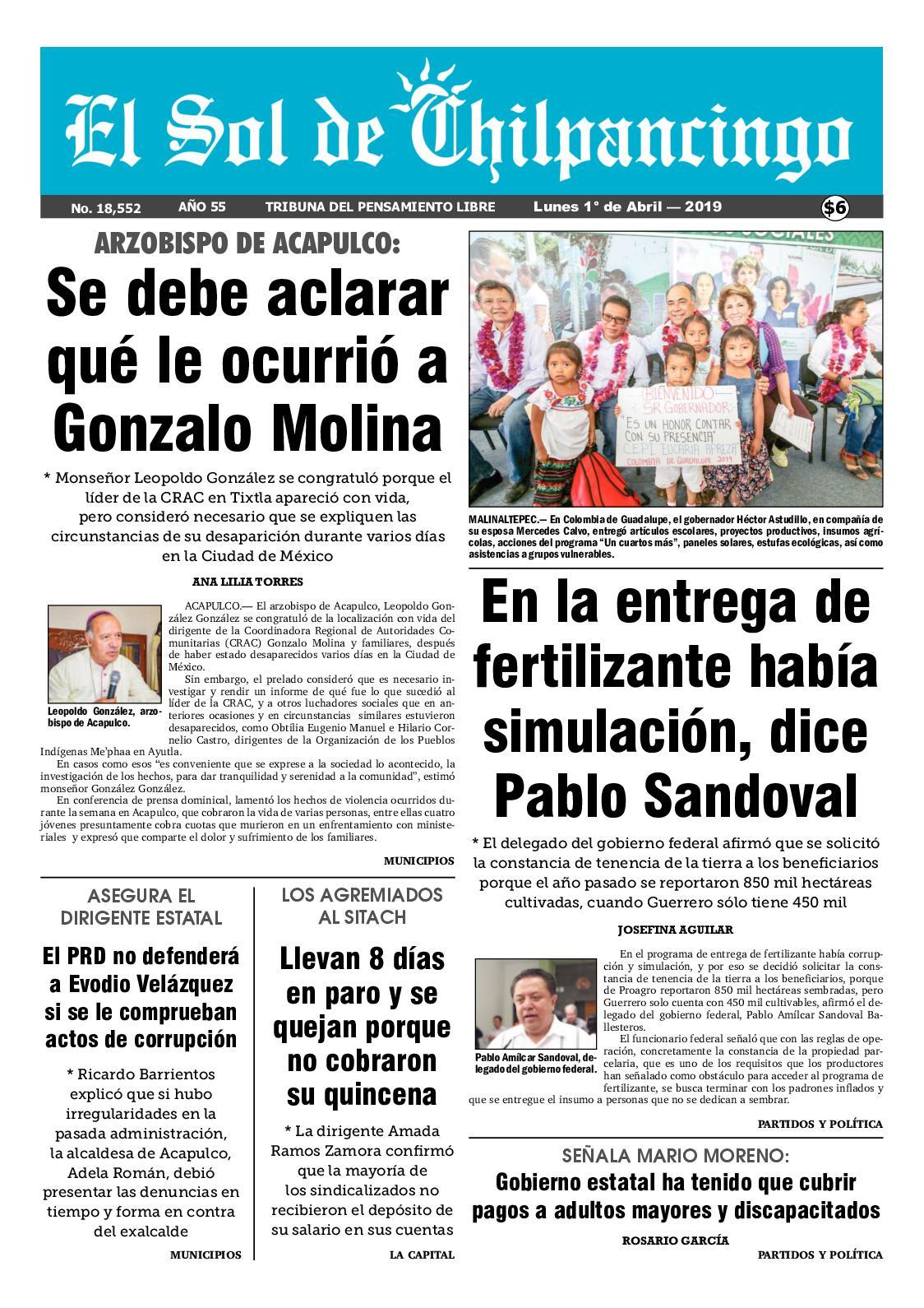 Calaméo El Sol De Chilpancingo 1 Abril 2019