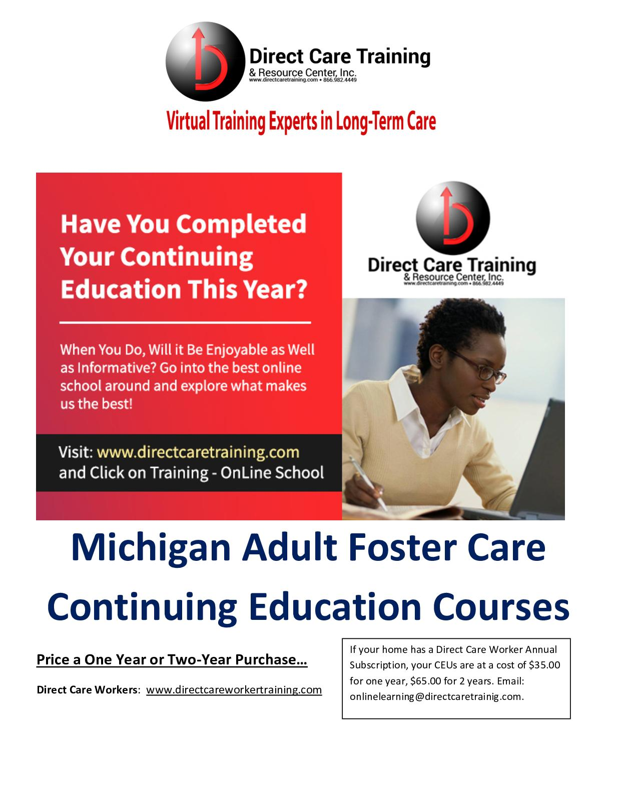 Calaméo - Michigan Adult Foster Care Ceu Subjects And Hour Credits 3