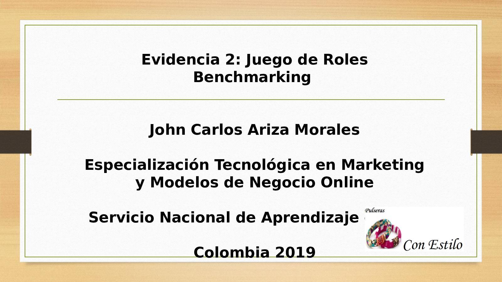 Calaméo Evidencia 2 Juego De Roles Benchmarking