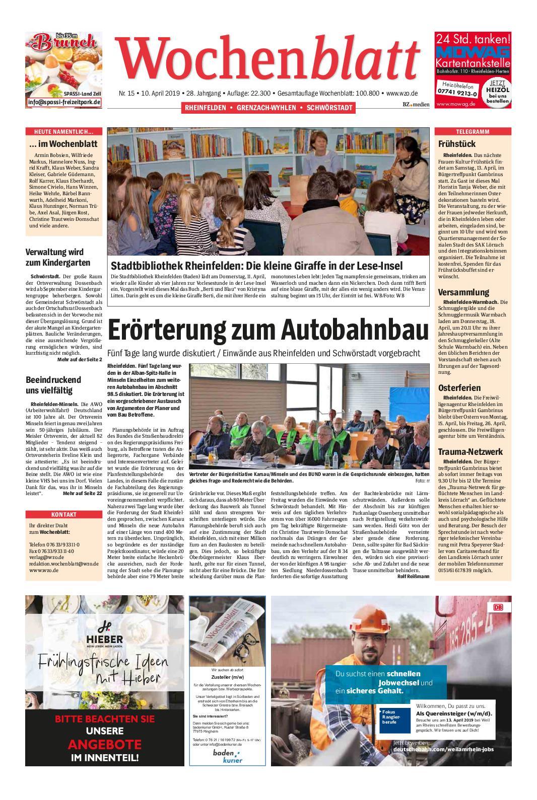 Calaméo Wochenblatt Rheinfelden