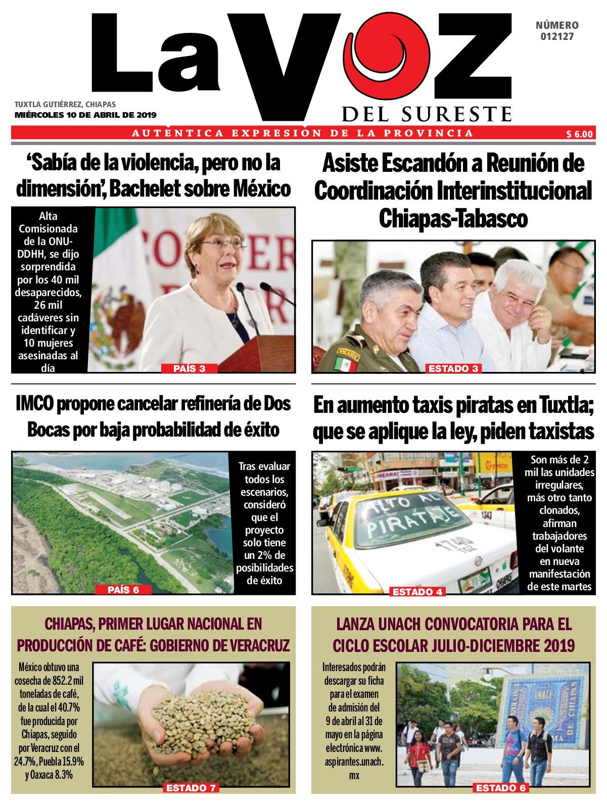 Diario Voz La 10 2019 Sureste Del 04 Calaméo CxQdshtr