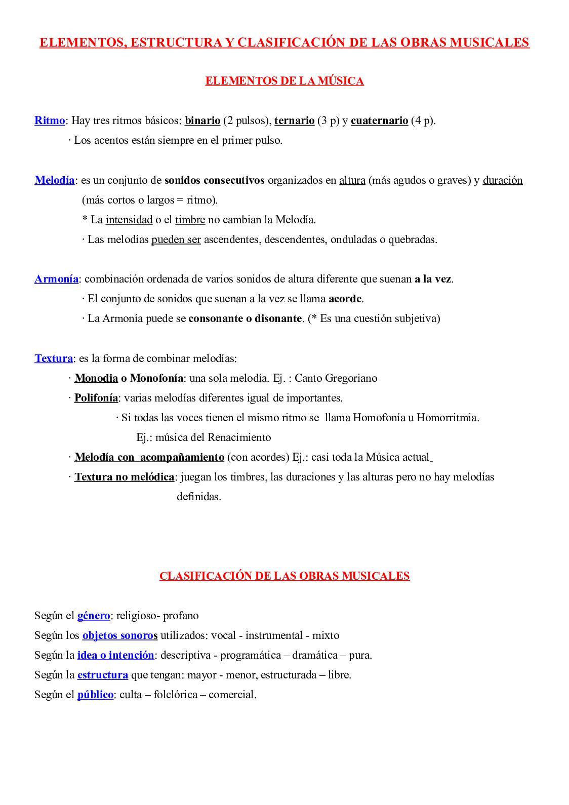 Calaméo Música Elementos Estructura Y Clasificación De
