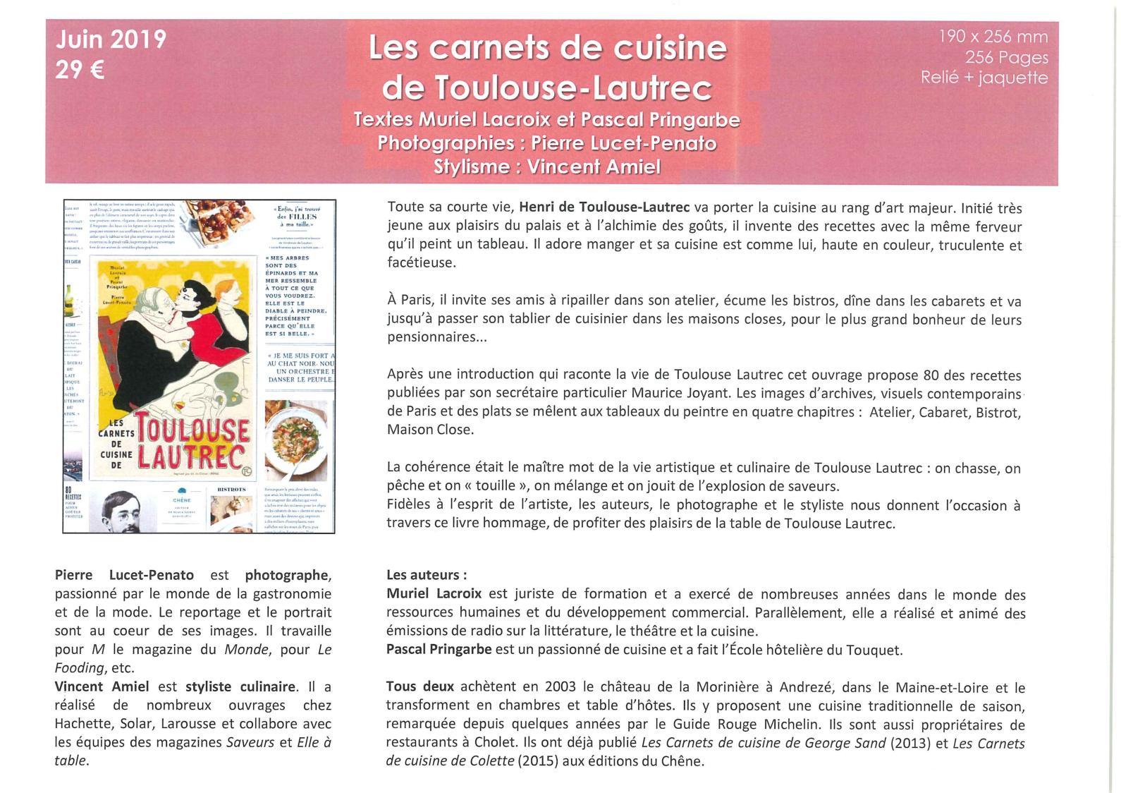 Calameo Extraits Les Carnets De Cuisine De Toulouse Lautrec