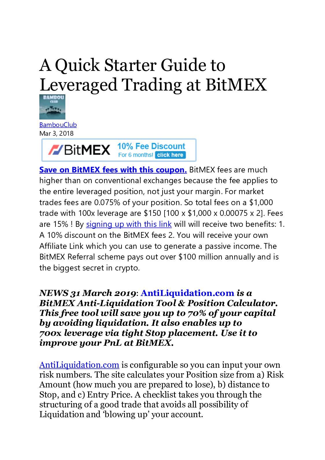 Calaméo - Bitmex Leveraged Trading- Hackernoon