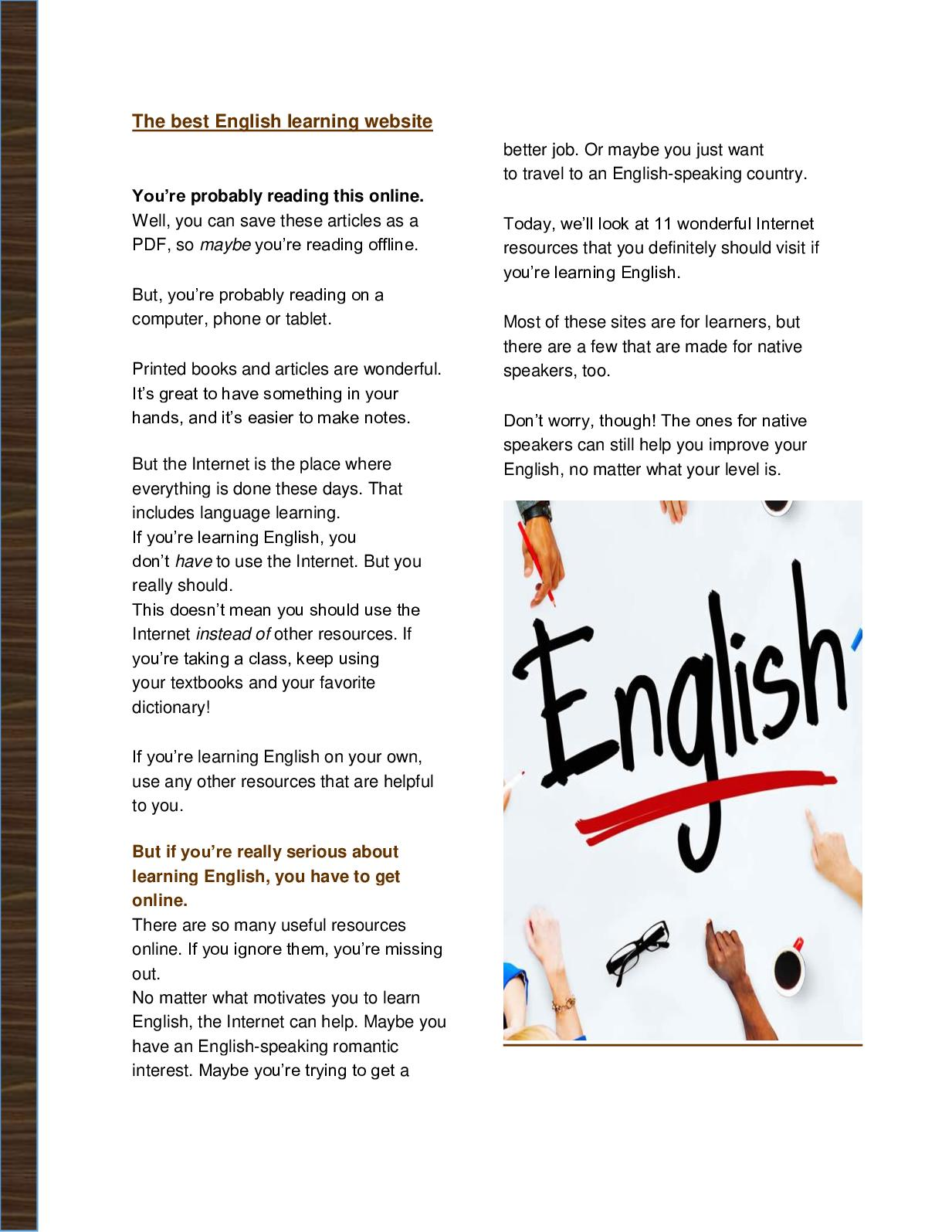 Calaméo - The Best English Learning Website