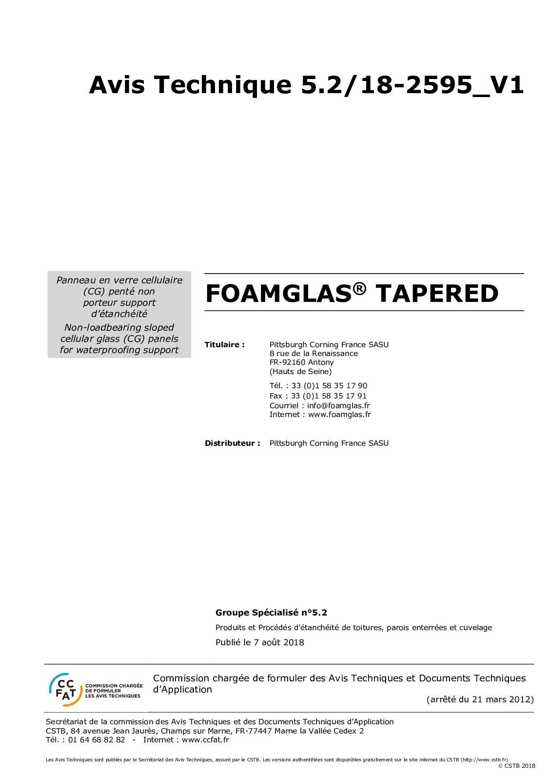 Calaméo Avis Technique Foamglas Tapered
