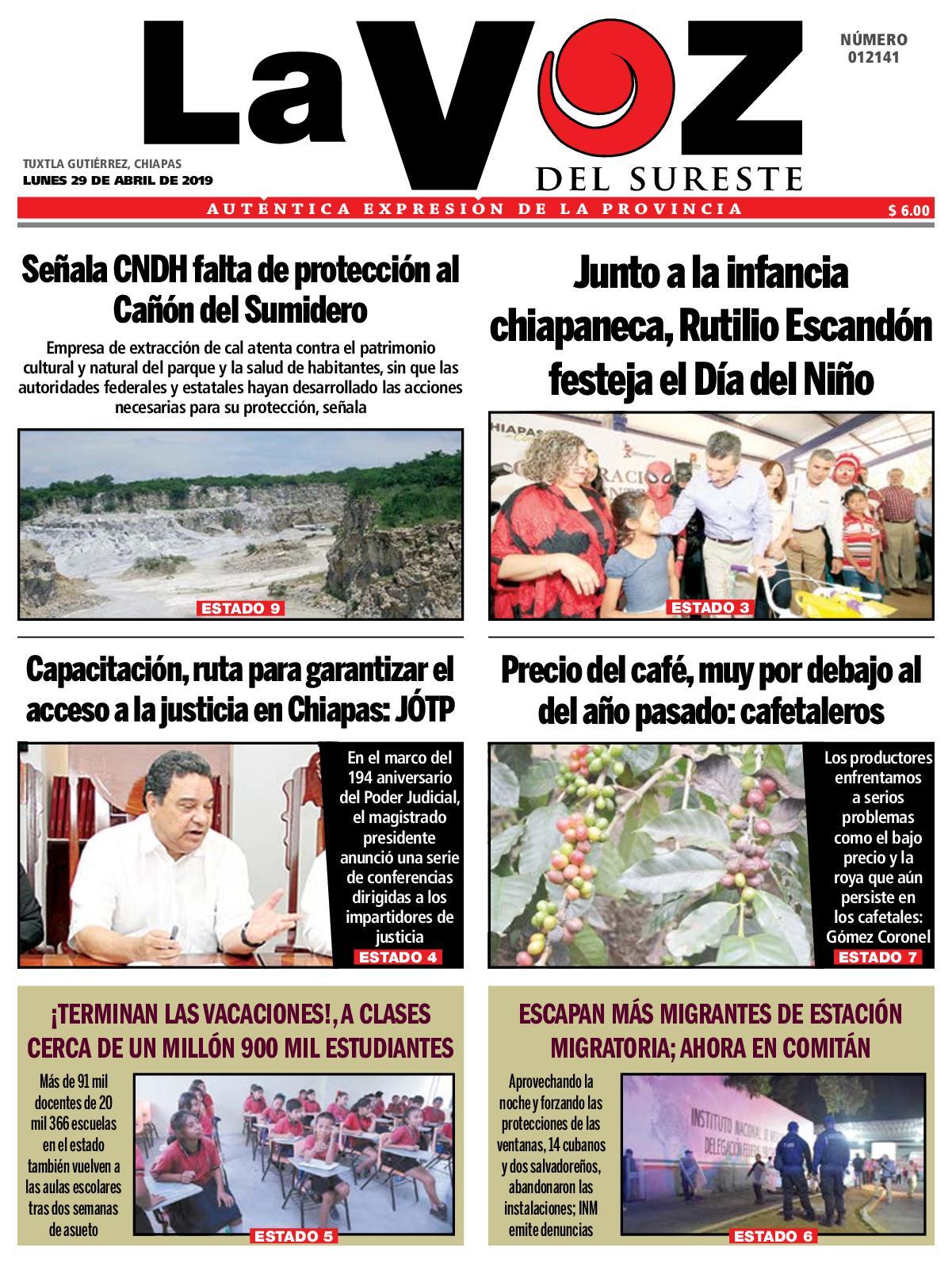 96eb290c3 Calaméo - Diario La Voz del Sureste 29-04-2019