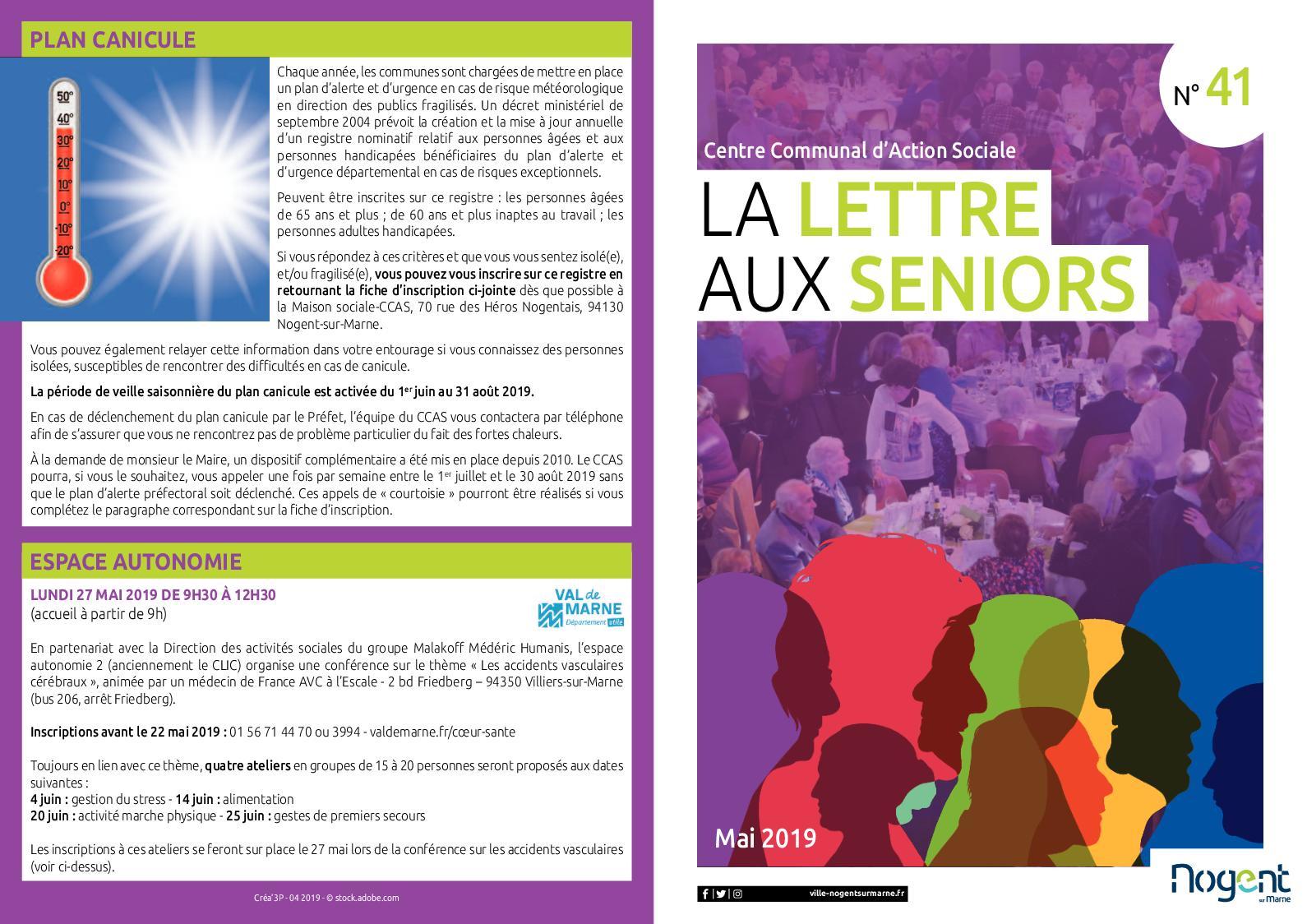 Clic Saint Gilles Croix De Vie calaméo - lettre aux seniors - mai 2019