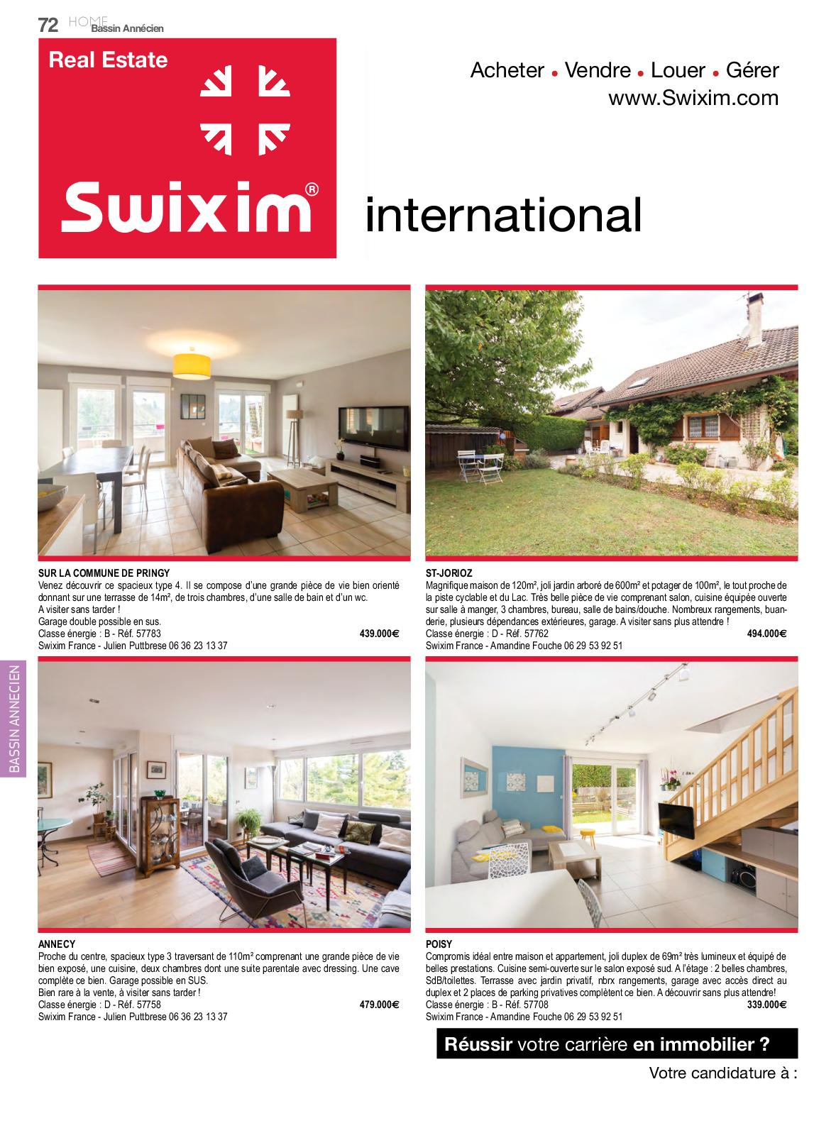 Magazine Home Immobilier N 135 France Annecy Geneve Suisse