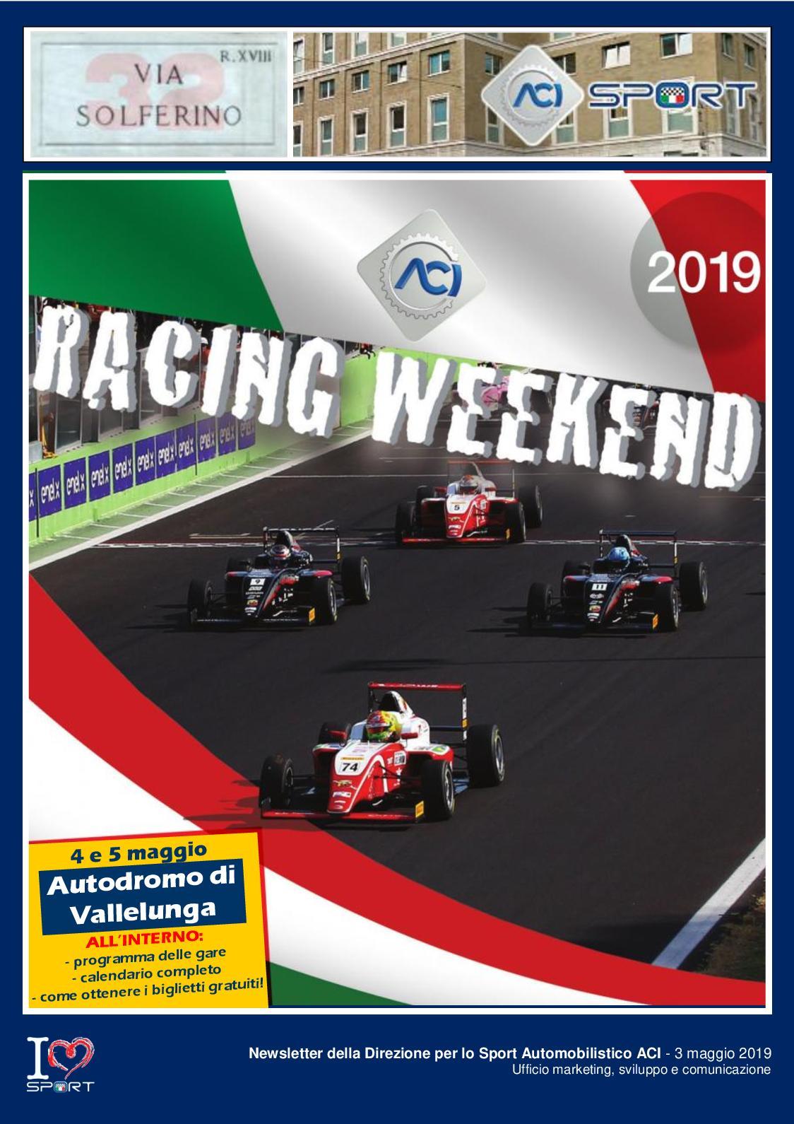 Aci Sport Calendario.Calameo Viasolferino32 Maggio 2019