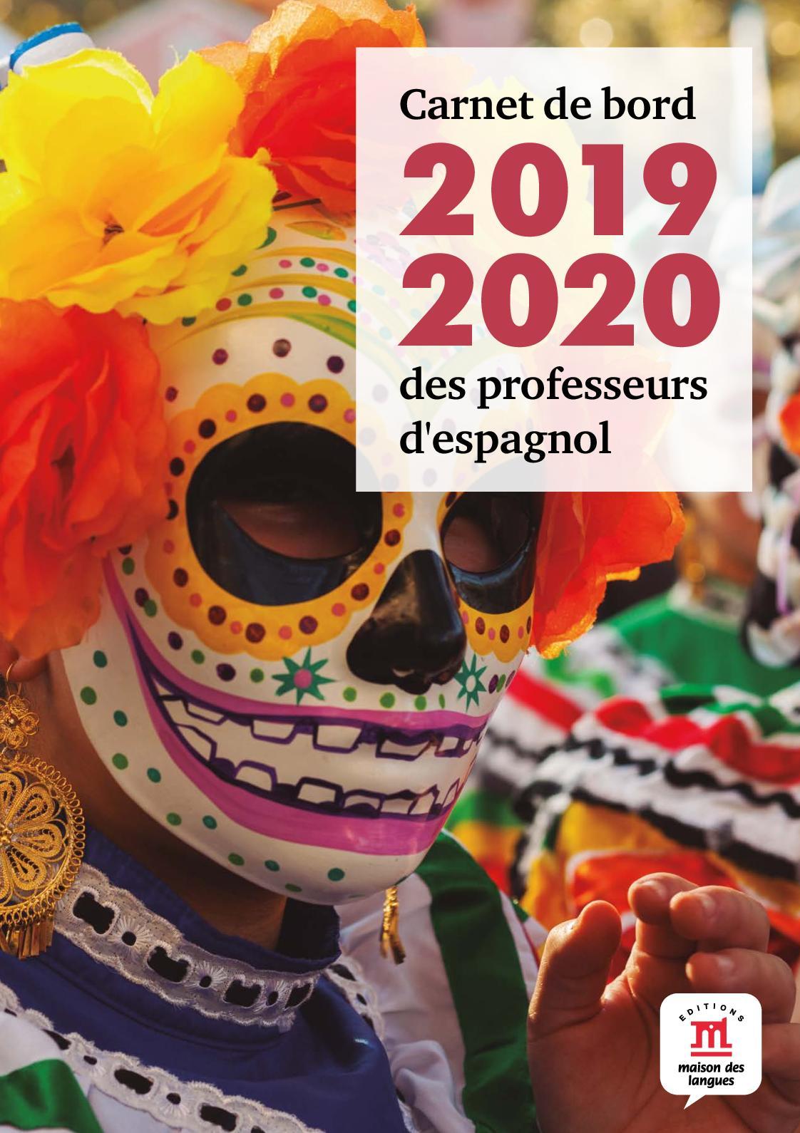 Calendario Escolar 2020 2020 Barcelona.Calameo Carnet De Bord 2019 2020 Espagnol