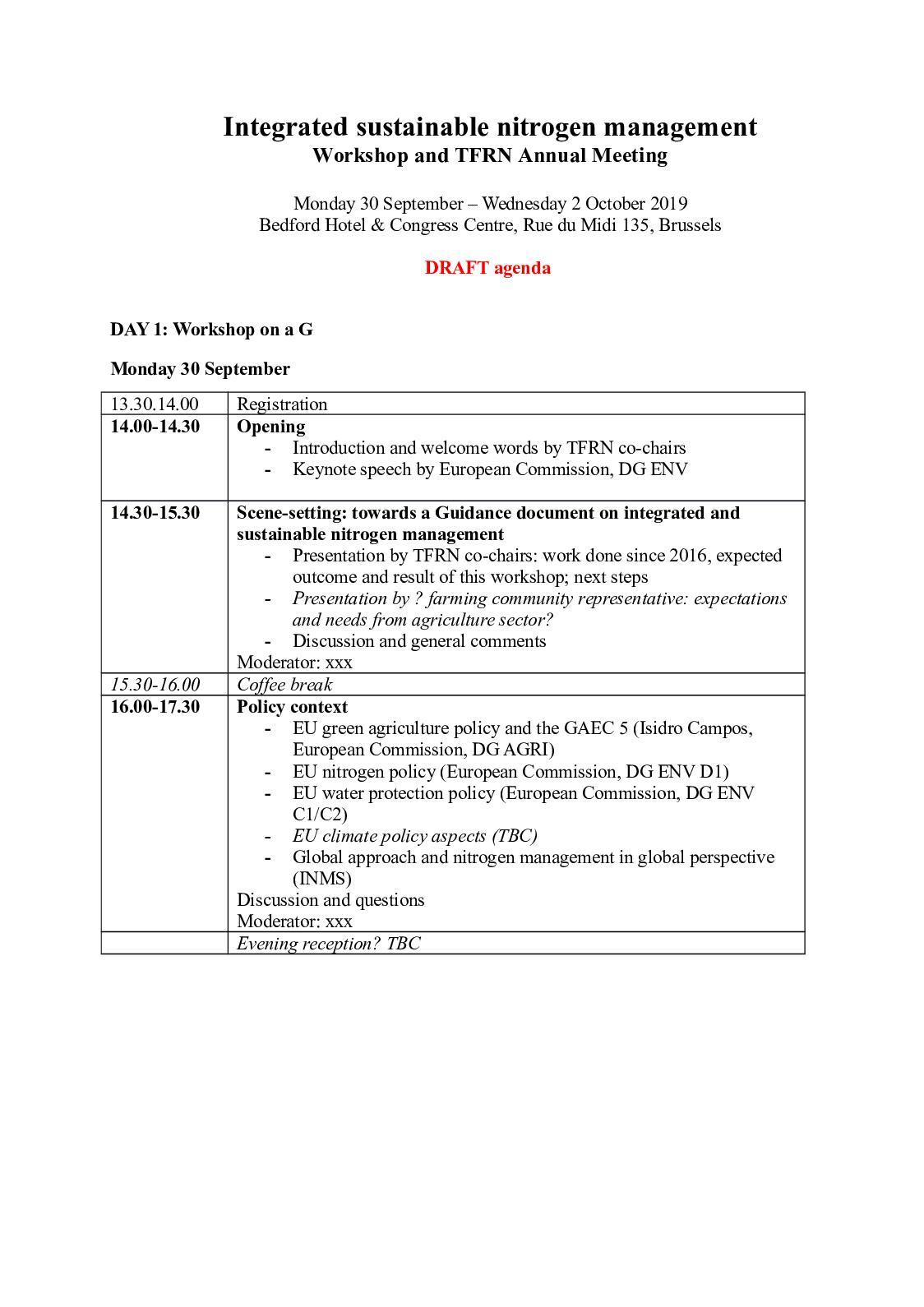 Calaméo - Draft Agenda Nitrogen Workshop 30sep 2oct19