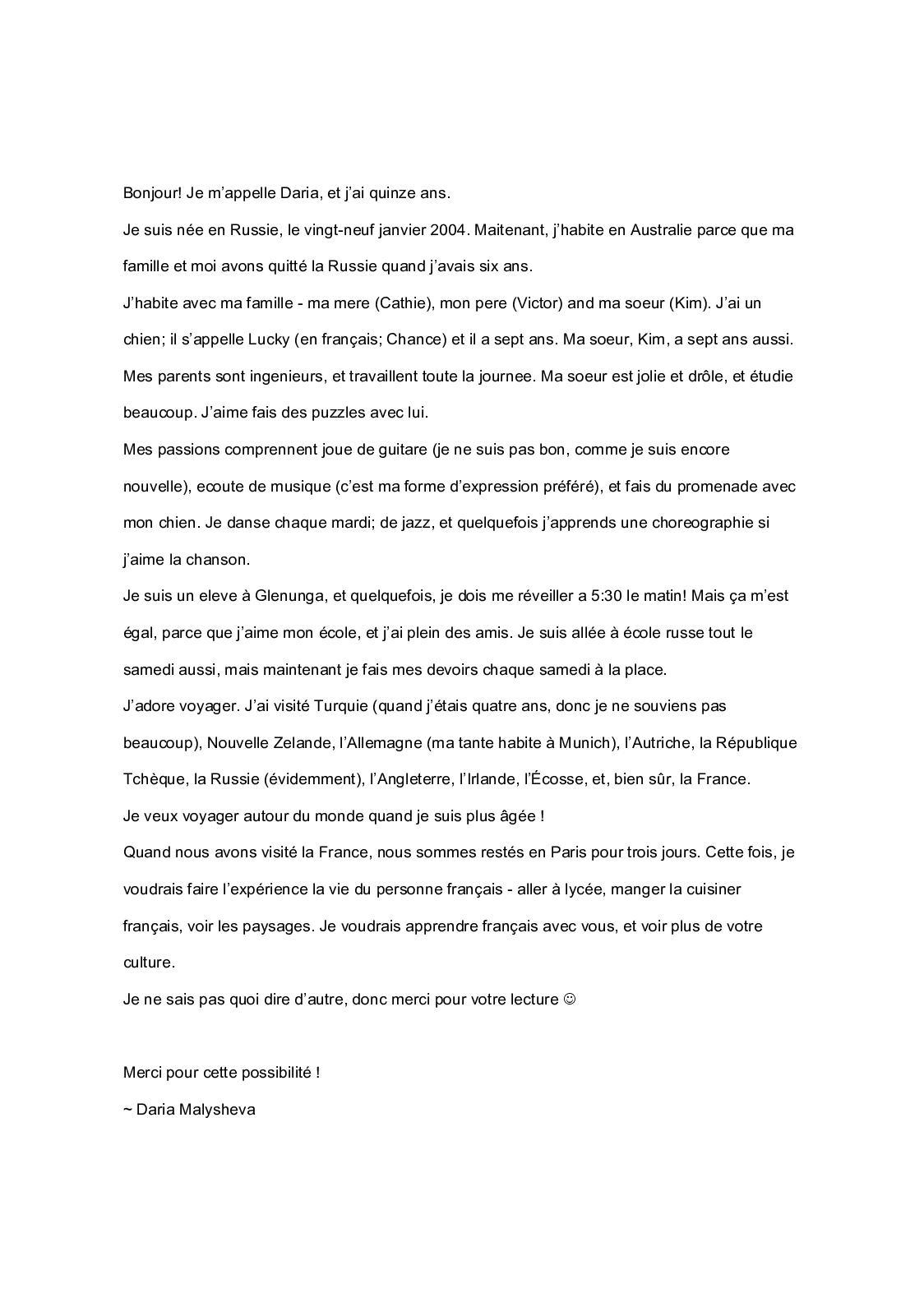 Calaméo N 001 Daria Australienne 10 Mois Lettre Et Collage