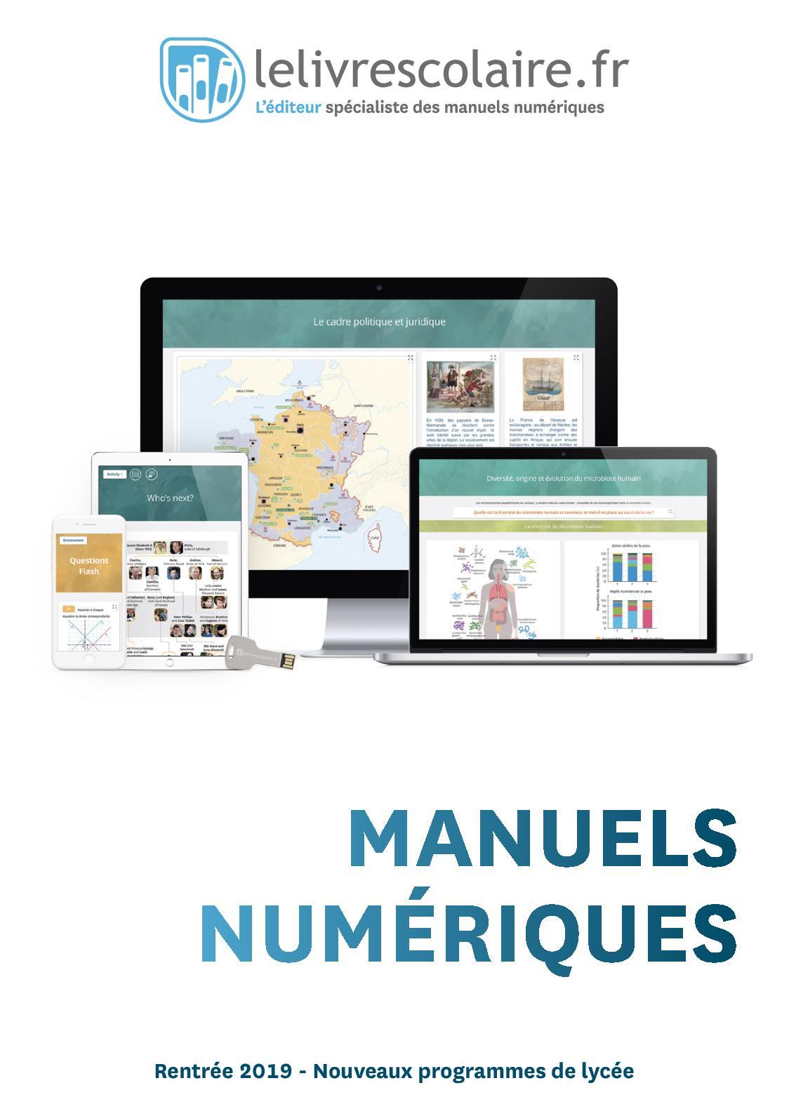Lelivrescolaire.fr Lycée - Manuels Numériques