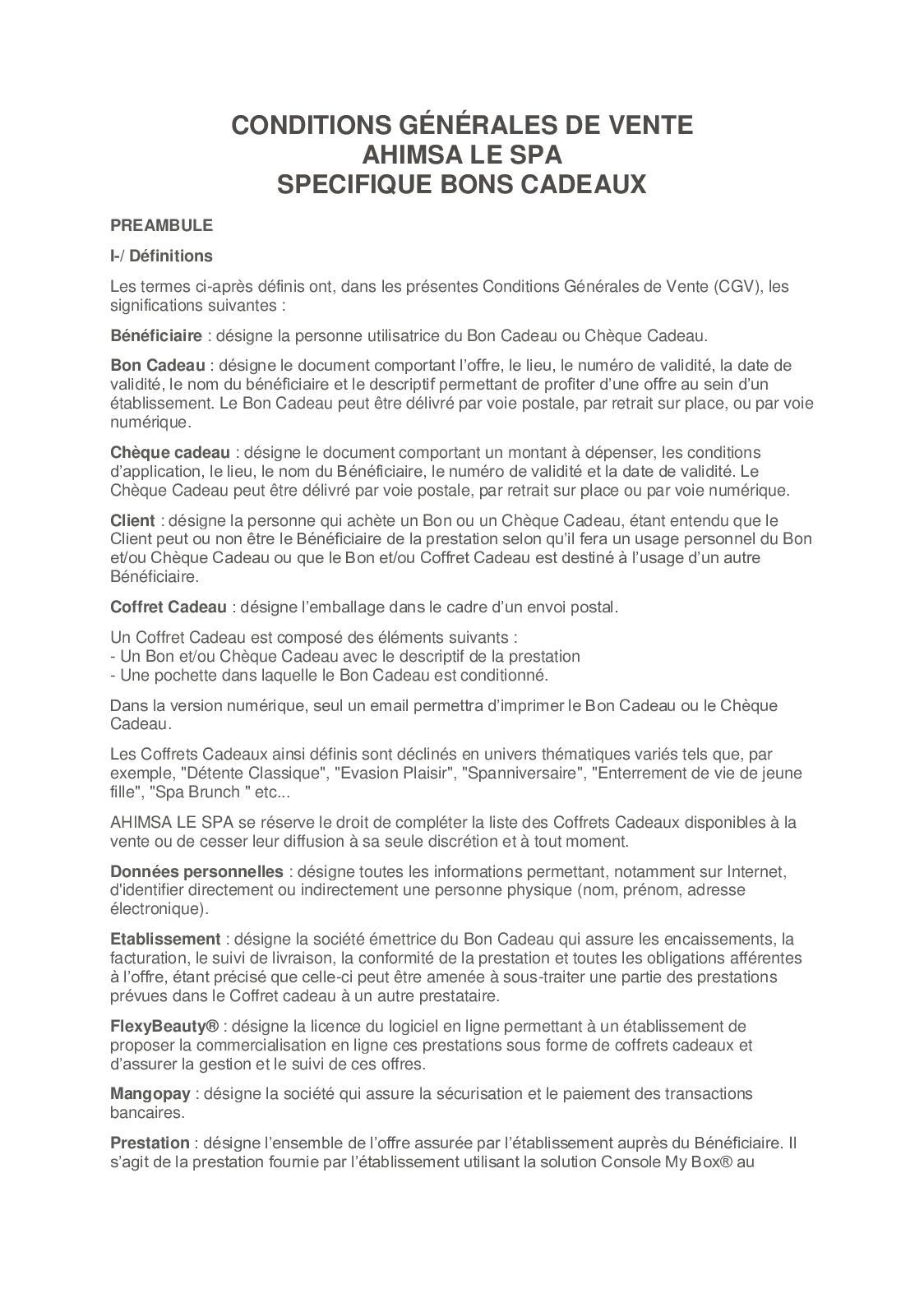 Calameo Cgv Ahimsa Le Spa Bons Cadeaux