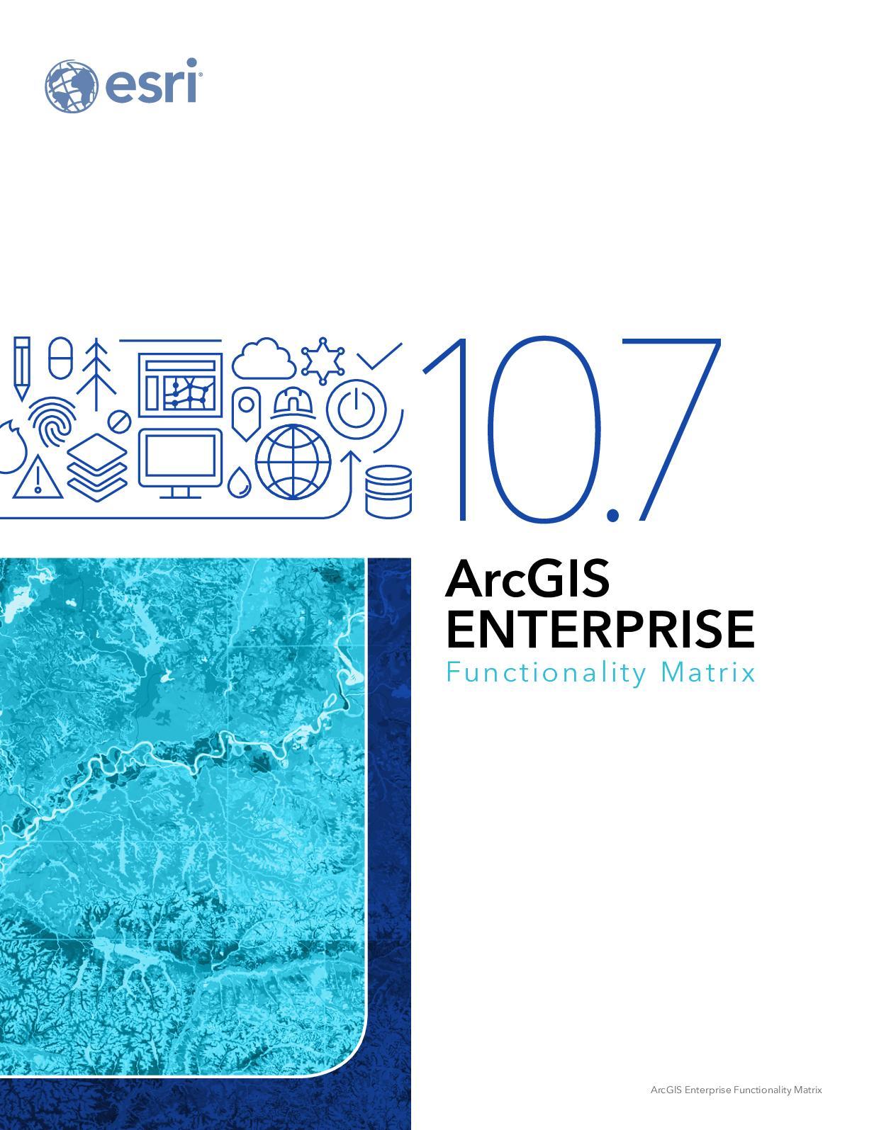 Calaméo - Matrice des fonctionnalités d'ArcGIS 10 7